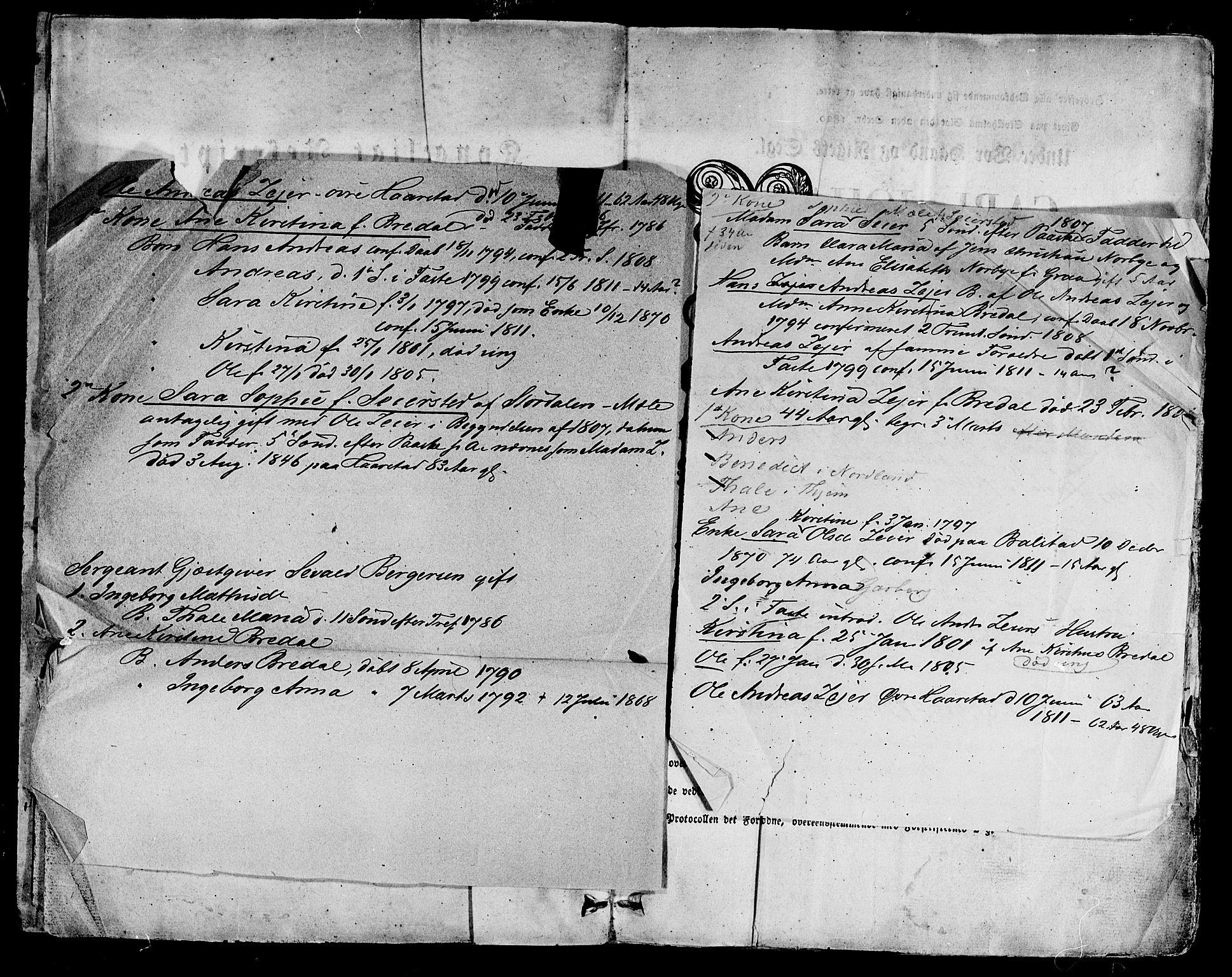 SAT, Ministerialprotokoller, klokkerbøker og fødselsregistre - Sør-Trøndelag, 695/L1143: Ministerialbok nr. 695A05 /1, 1824-1842