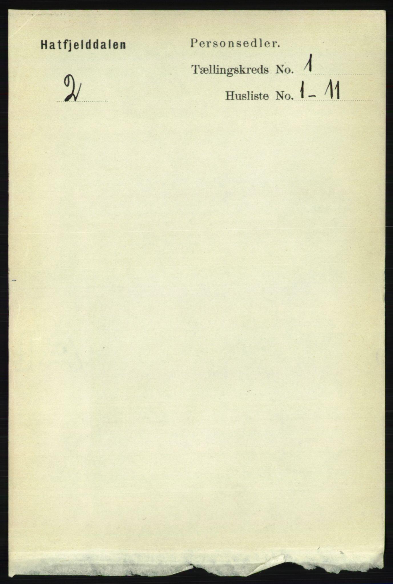 RA, Folketelling 1891 for 1826 Hattfjelldal herred, 1891, s. 38
