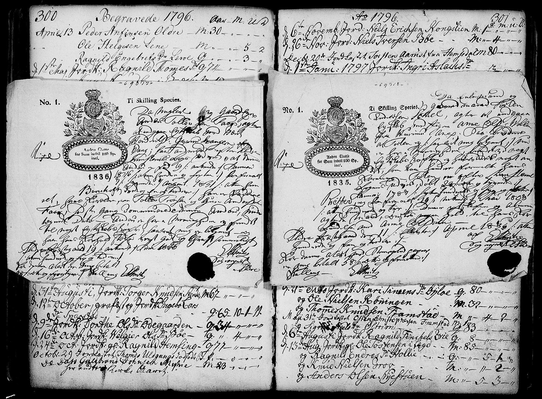 SAH, Vang prestekontor, Valdres, Ministerialbok nr. 2, 1796-1808, s. 300-301