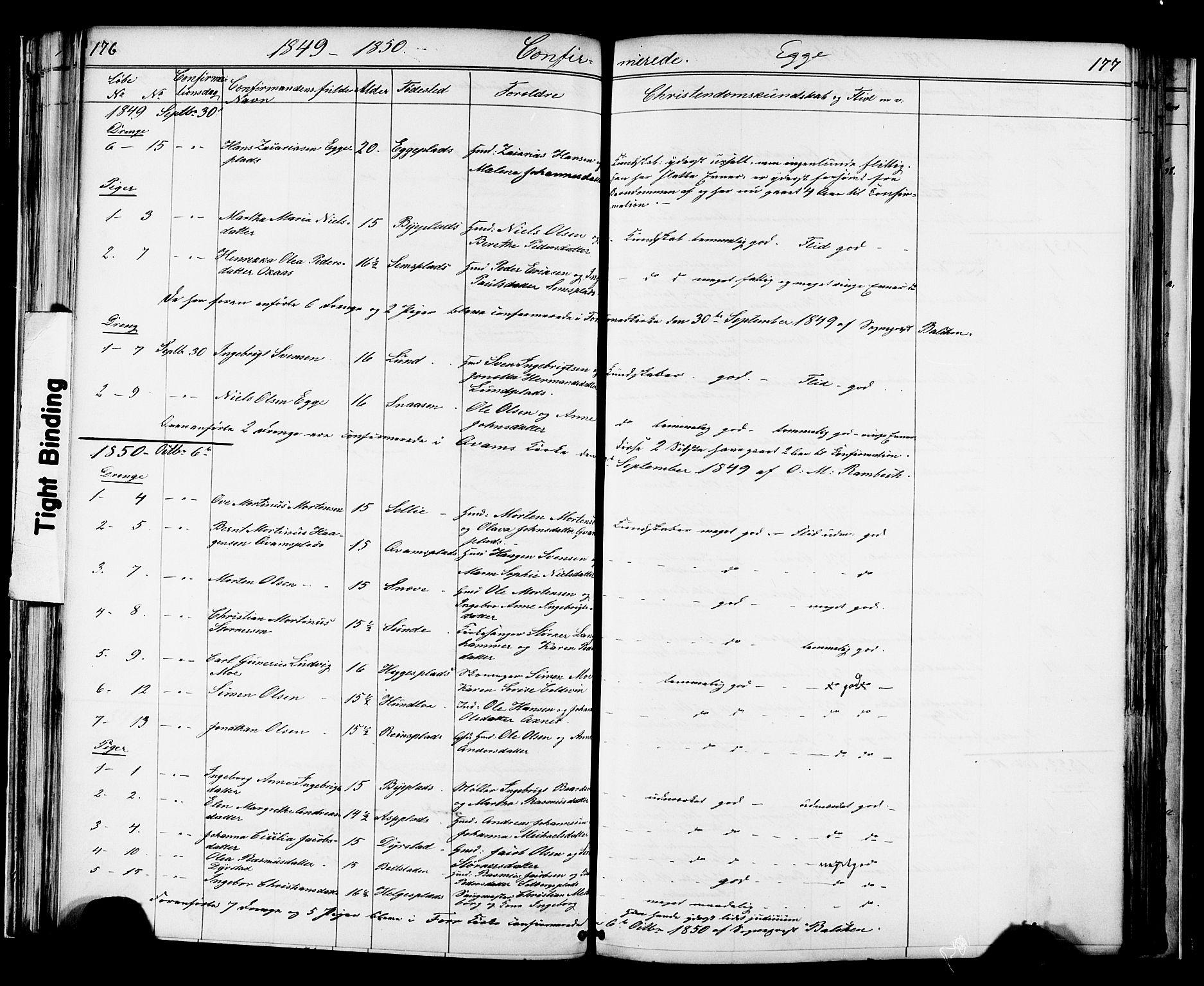 SAT, Ministerialprotokoller, klokkerbøker og fødselsregistre - Nord-Trøndelag, 739/L0367: Ministerialbok nr. 739A01 /3, 1838-1868, s. 176-177