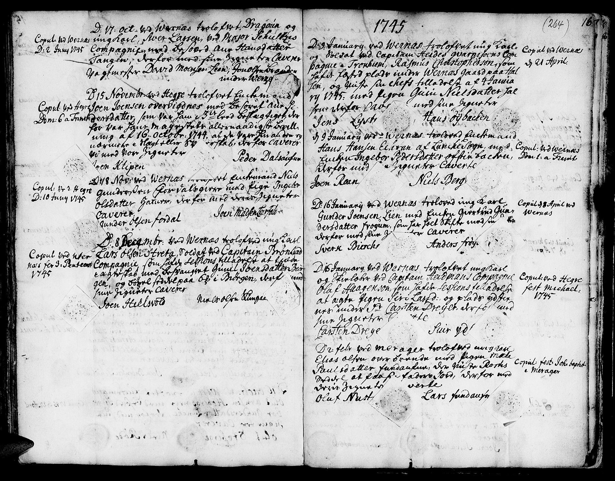 SAT, Ministerialprotokoller, klokkerbøker og fødselsregistre - Nord-Trøndelag, 709/L0056: Ministerialbok nr. 709A04, 1740-1756, s. 264