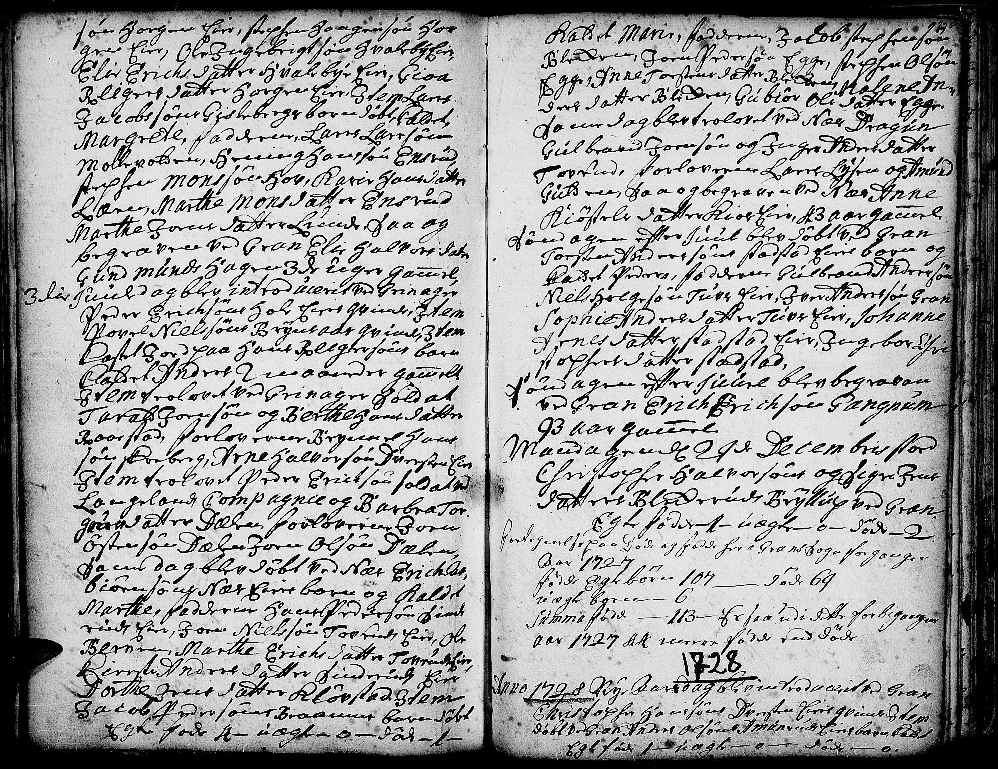 SAH, Gran prestekontor, Ministerialbok nr. 1, 1707-1731, s. 236
