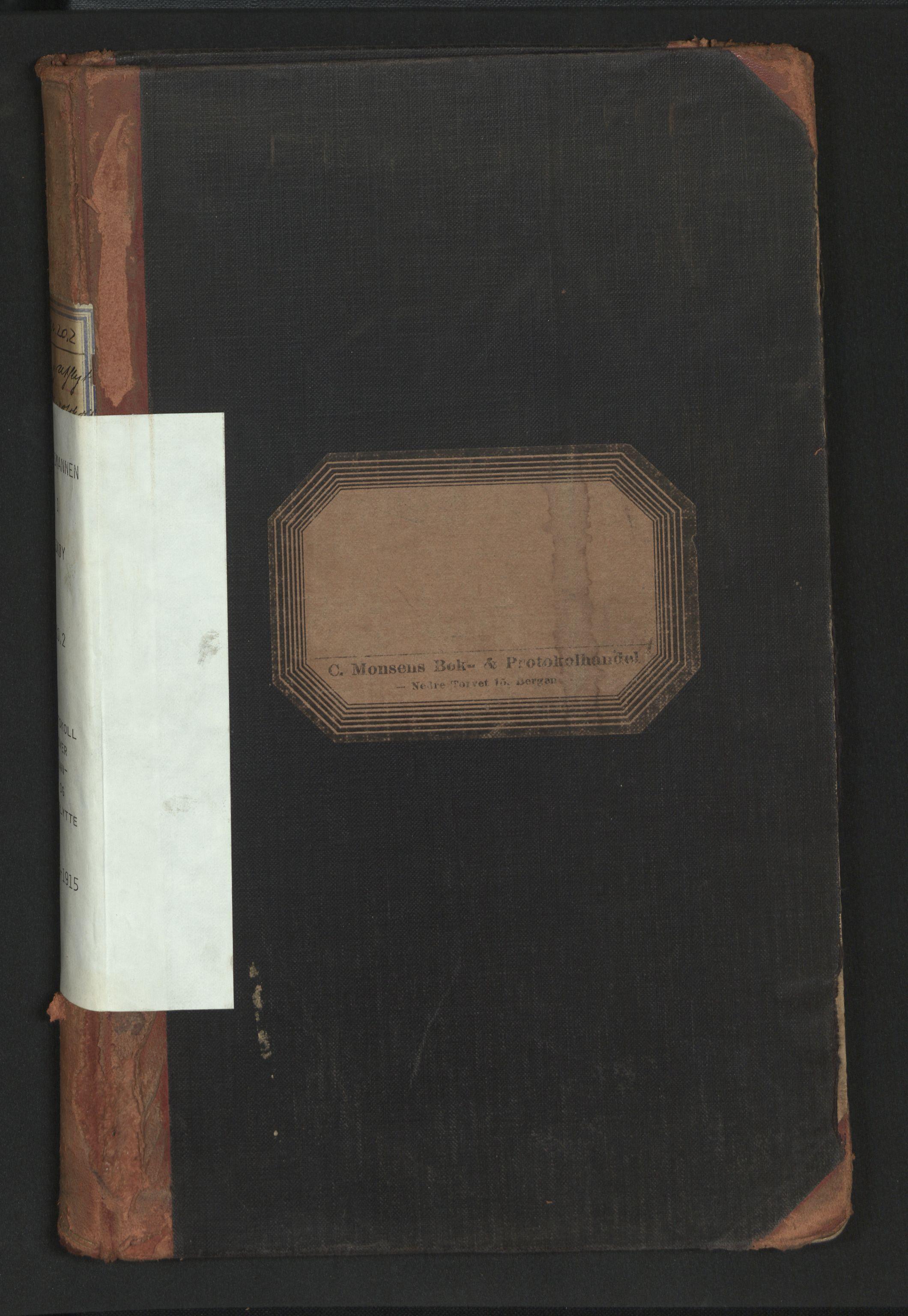 SAB, Lensmannen i Askøy, 0020/L0002: Protokoll over inn- og utflytte, 1910-1915