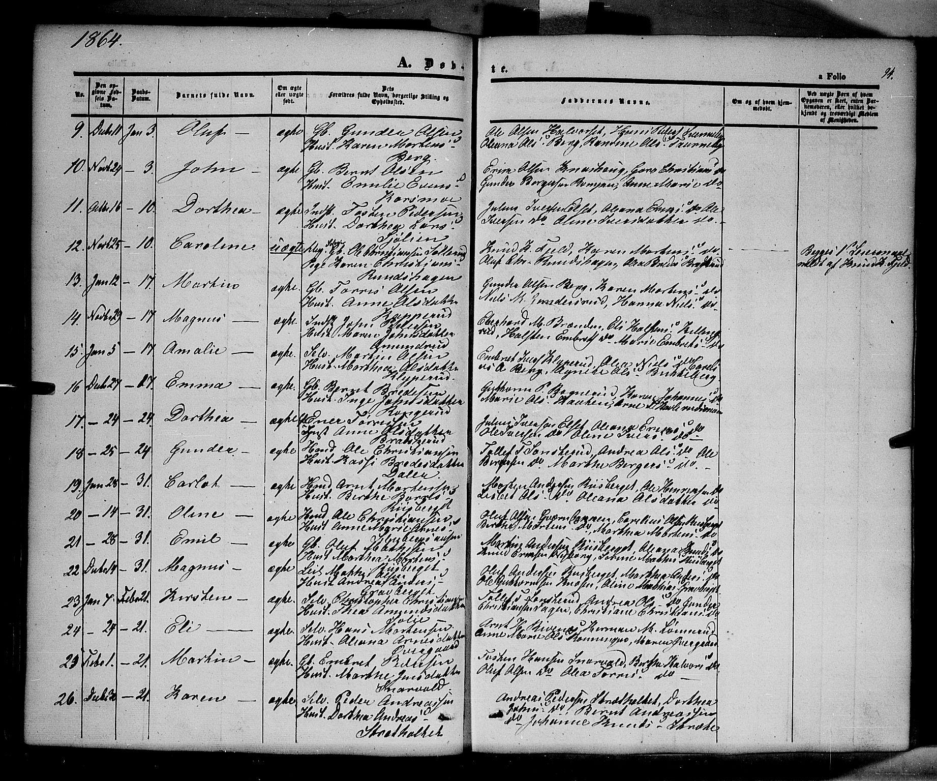 SAH, Våler prestekontor, Ministerialbok nr. 1, 1849-1878, s. 94