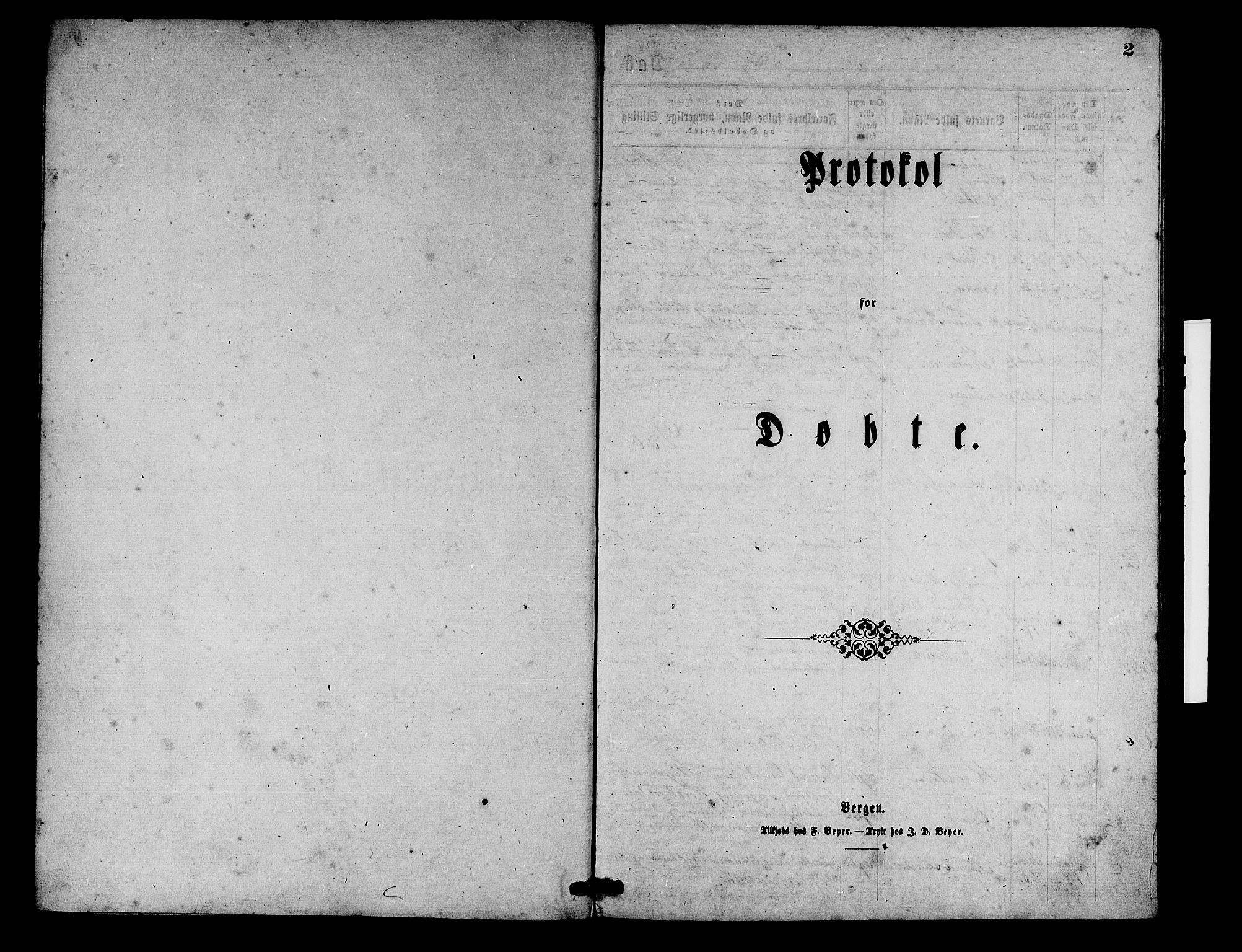 SAB, Aurland Sokneprestembete*, Klokkerbok nr. D 1, 1868-1882, s. 2