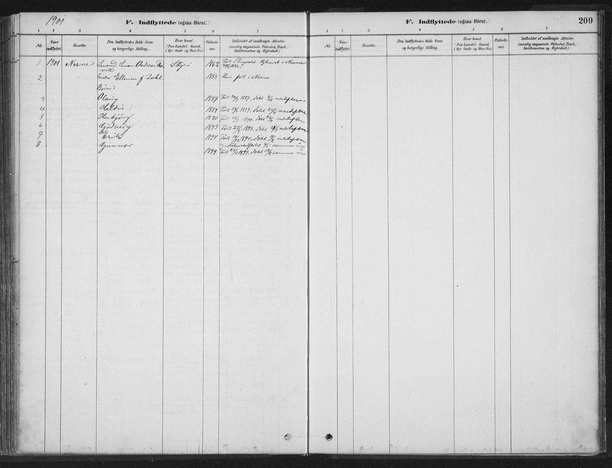 SAT, Ministerialprotokoller, klokkerbøker og fødselsregistre - Nord-Trøndelag, 788/L0697: Ministerialbok nr. 788A04, 1878-1902, s. 209
