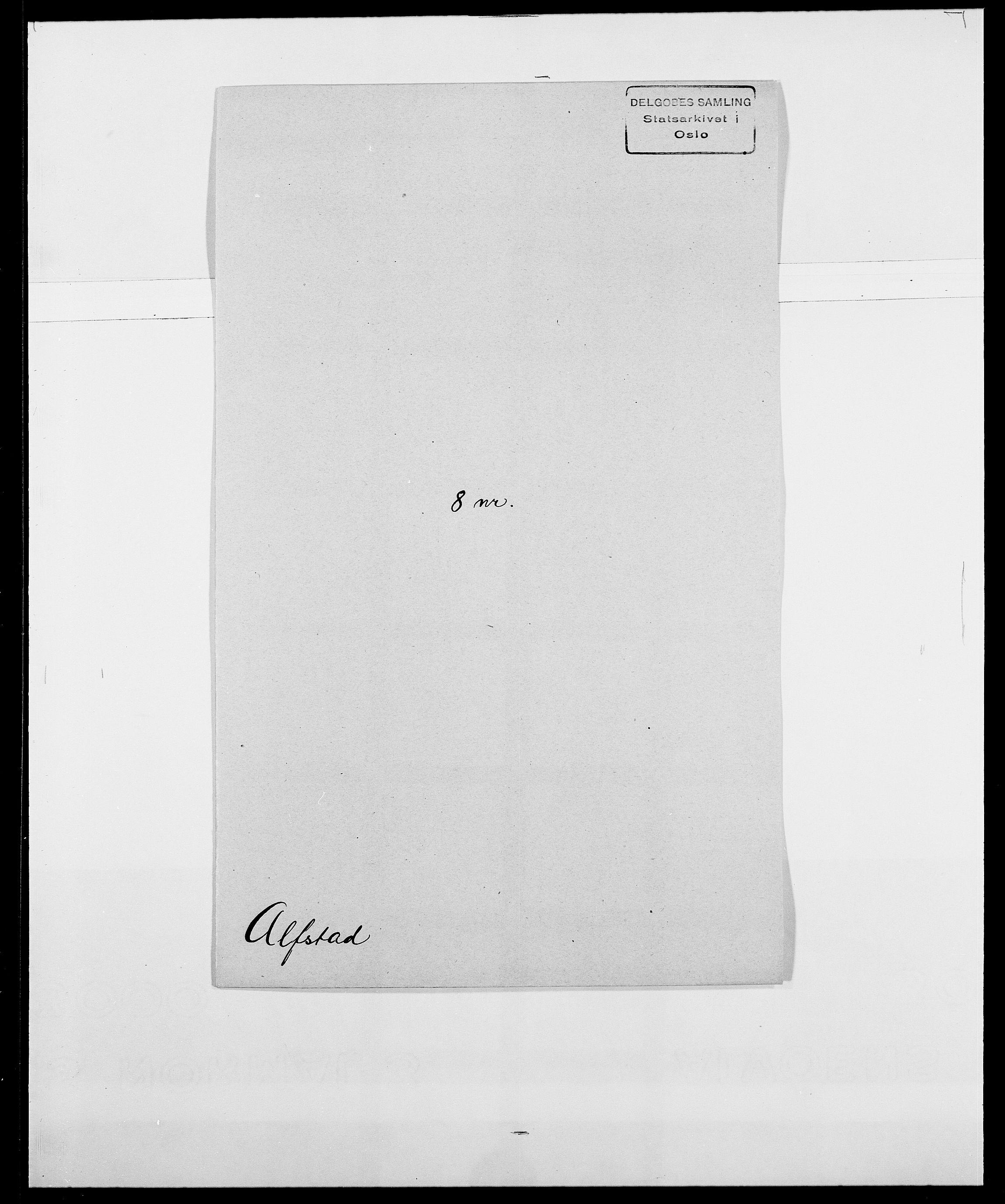 SAO, Delgobe, Charles Antoine - samling, D/Da/L0001: Aabye - Angerman, s. 396