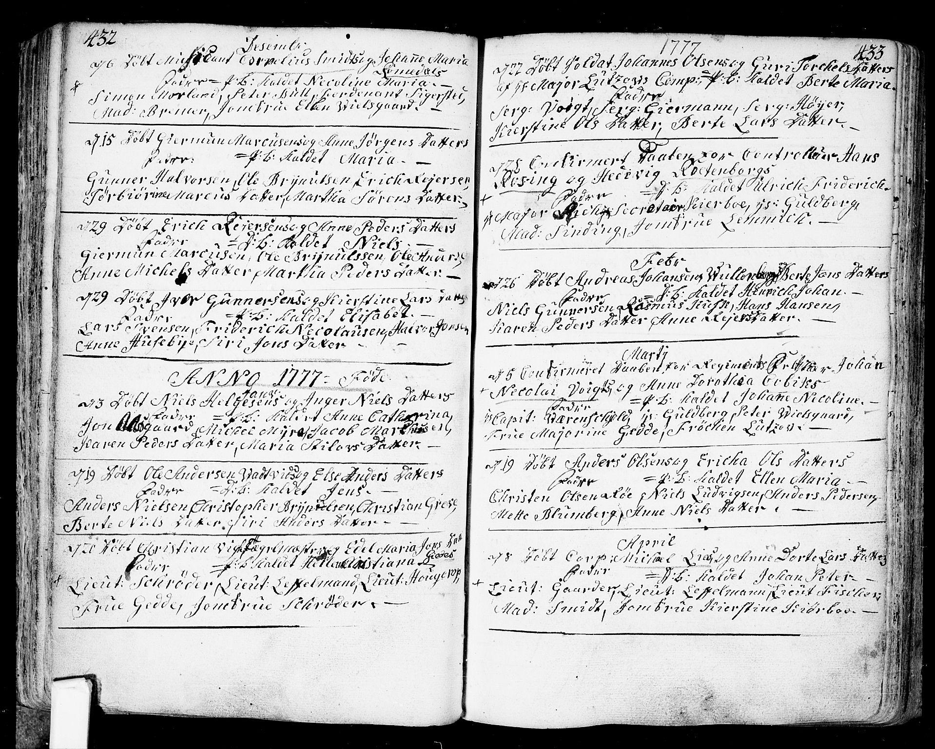 SAO, Fredrikstad prestekontor Kirkebøker, F/Fa/L0002: Ministerialbok nr. 2, 1750-1804, s. 432-433