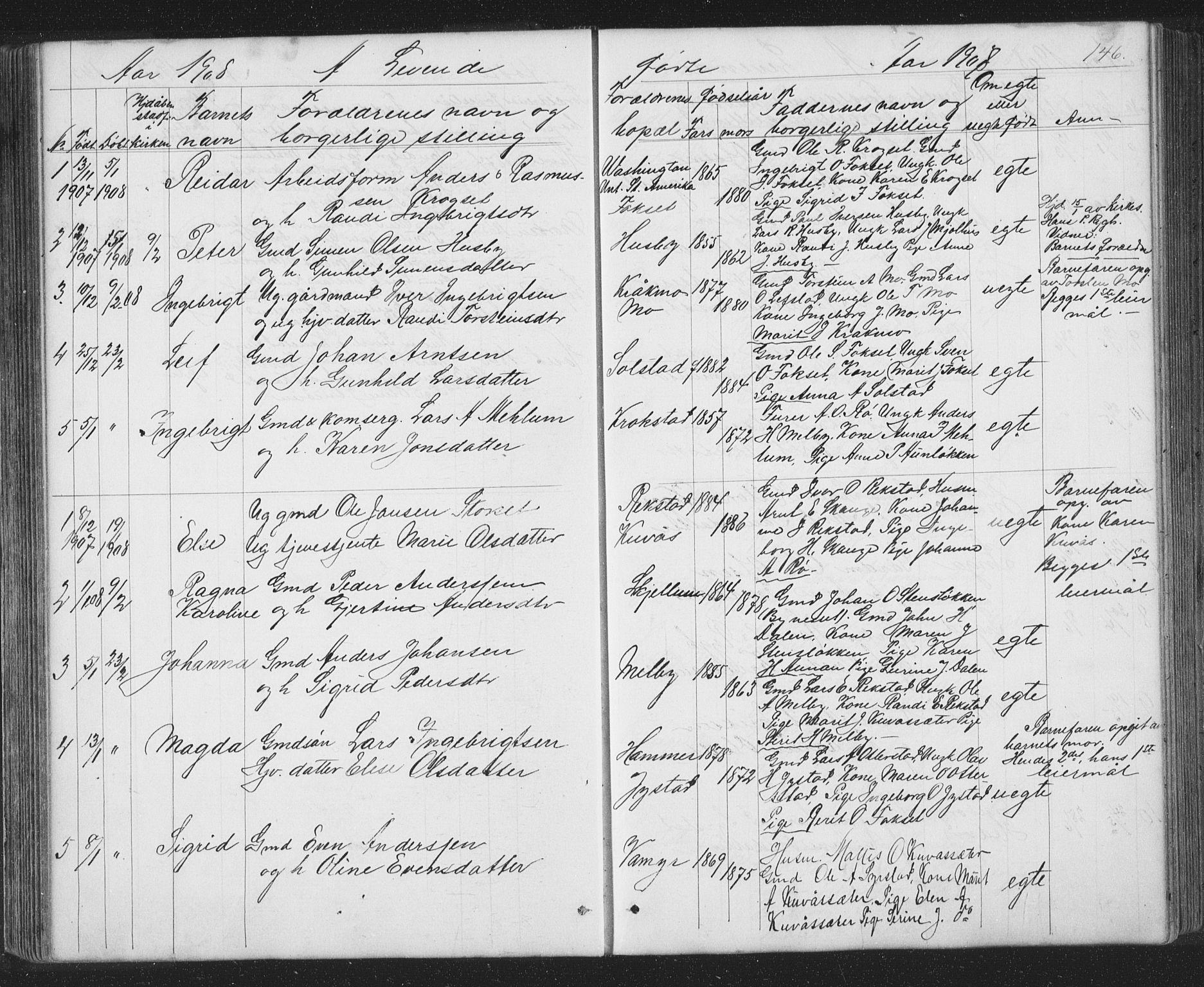 SAT, Ministerialprotokoller, klokkerbøker og fødselsregistre - Sør-Trøndelag, 667/L0798: Klokkerbok nr. 667C03, 1867-1929, s. 146