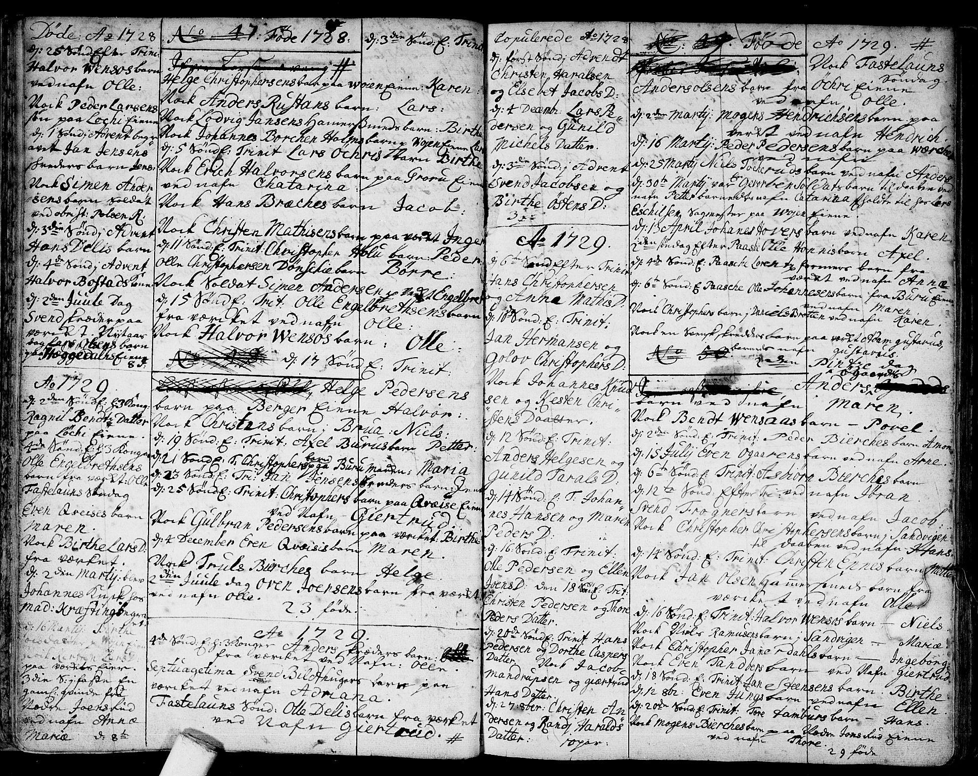 SAO, Asker prestekontor Kirkebøker, F/Fa/L0001: Ministerialbok nr. I 1, 1726-1744, s. 15