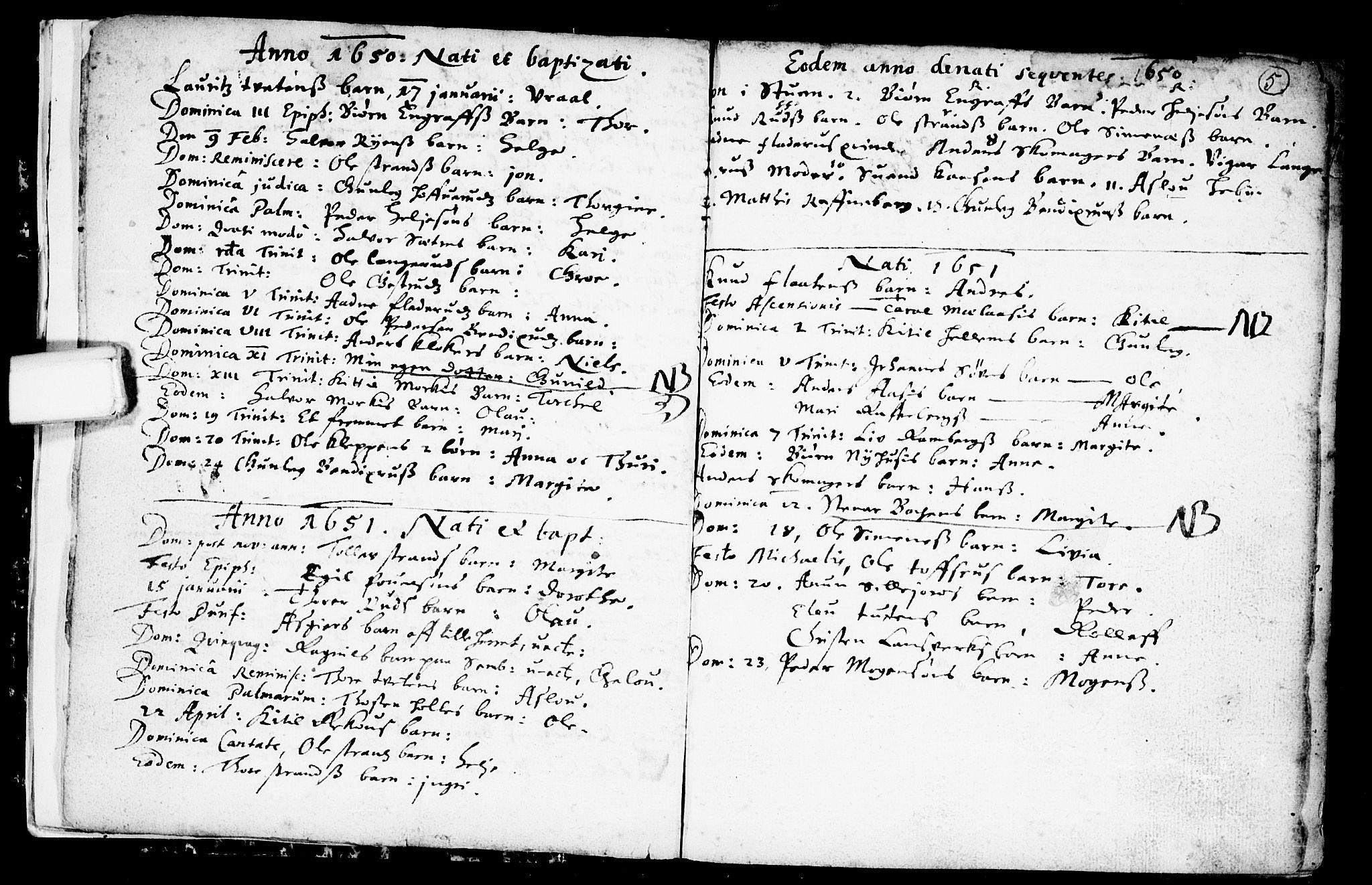 SAKO, Heddal kirkebøker, F/Fa/L0001: Ministerialbok nr. I 1, 1648-1699, s. 5