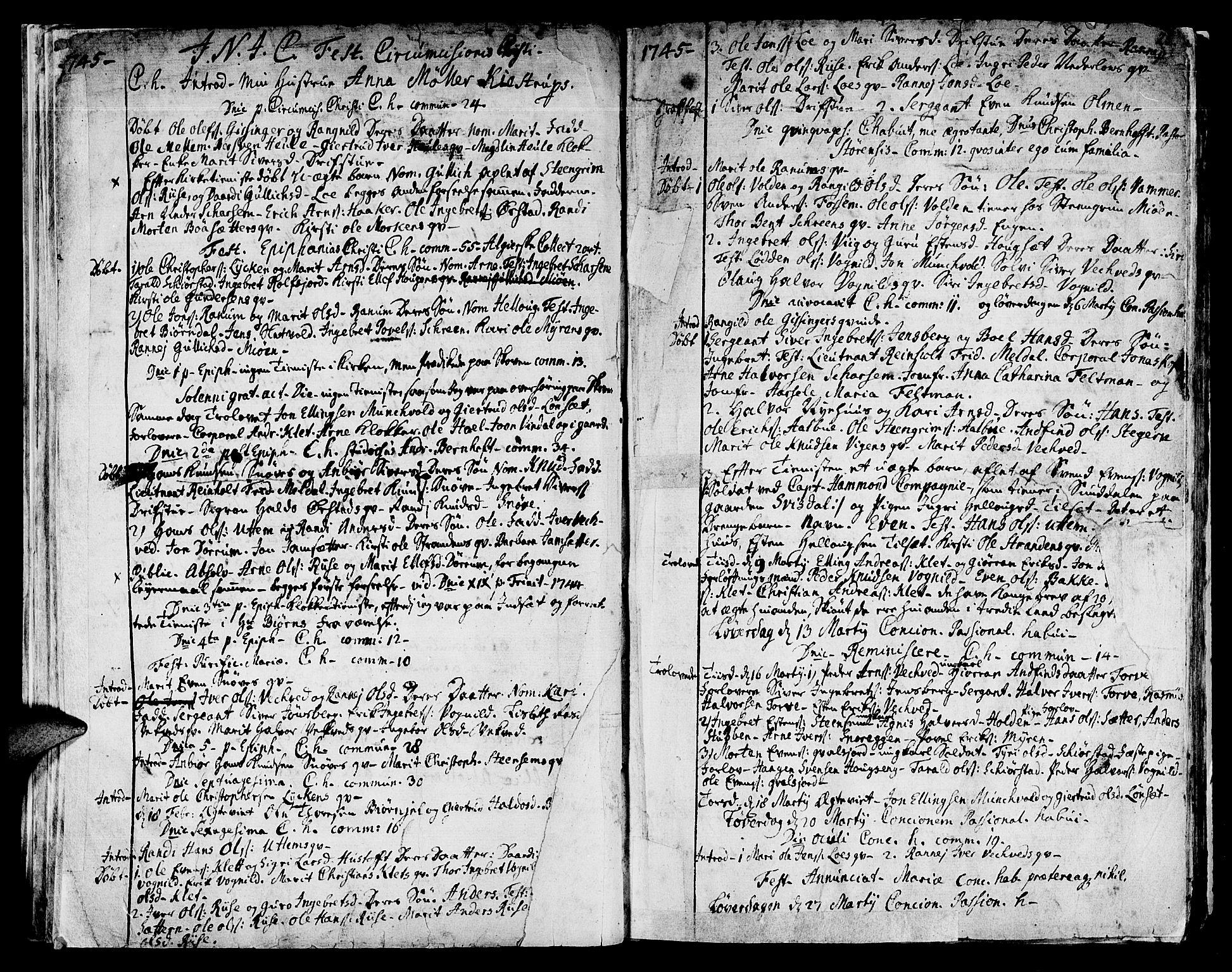 SAT, Ministerialprotokoller, klokkerbøker og fødselsregistre - Sør-Trøndelag, 678/L0891: Ministerialbok nr. 678A01, 1739-1780, s. 25