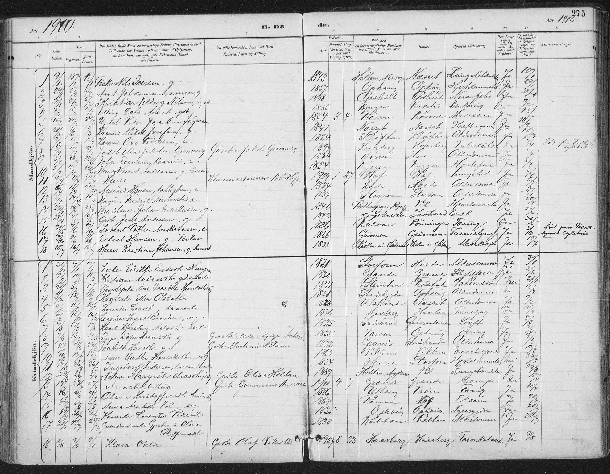 SAT, Ministerialprotokoller, klokkerbøker og fødselsregistre - Sør-Trøndelag, 659/L0743: Ministerialbok nr. 659A13, 1893-1910, s. 275
