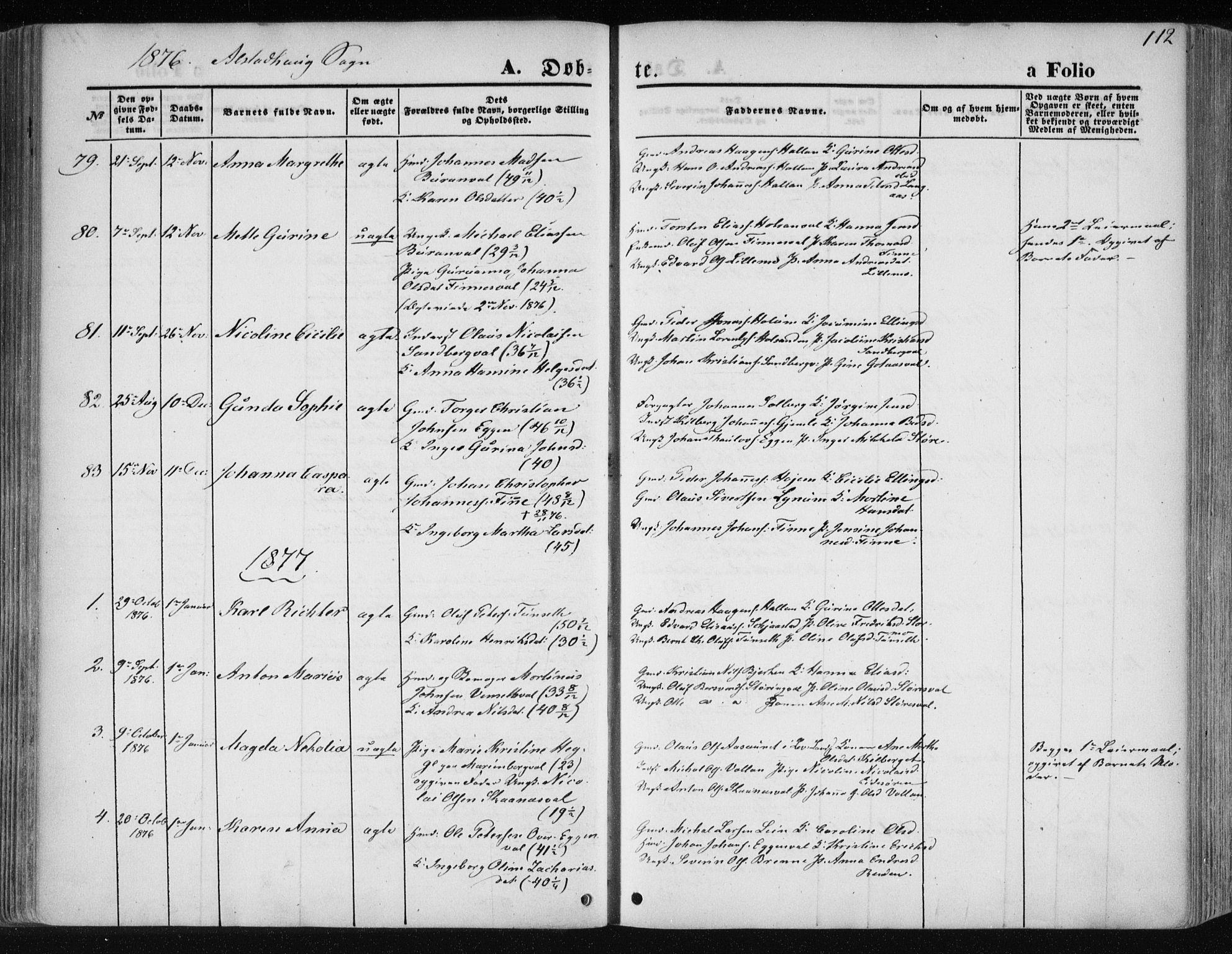 SAT, Ministerialprotokoller, klokkerbøker og fødselsregistre - Nord-Trøndelag, 717/L0157: Ministerialbok nr. 717A08 /1, 1863-1877, s. 112