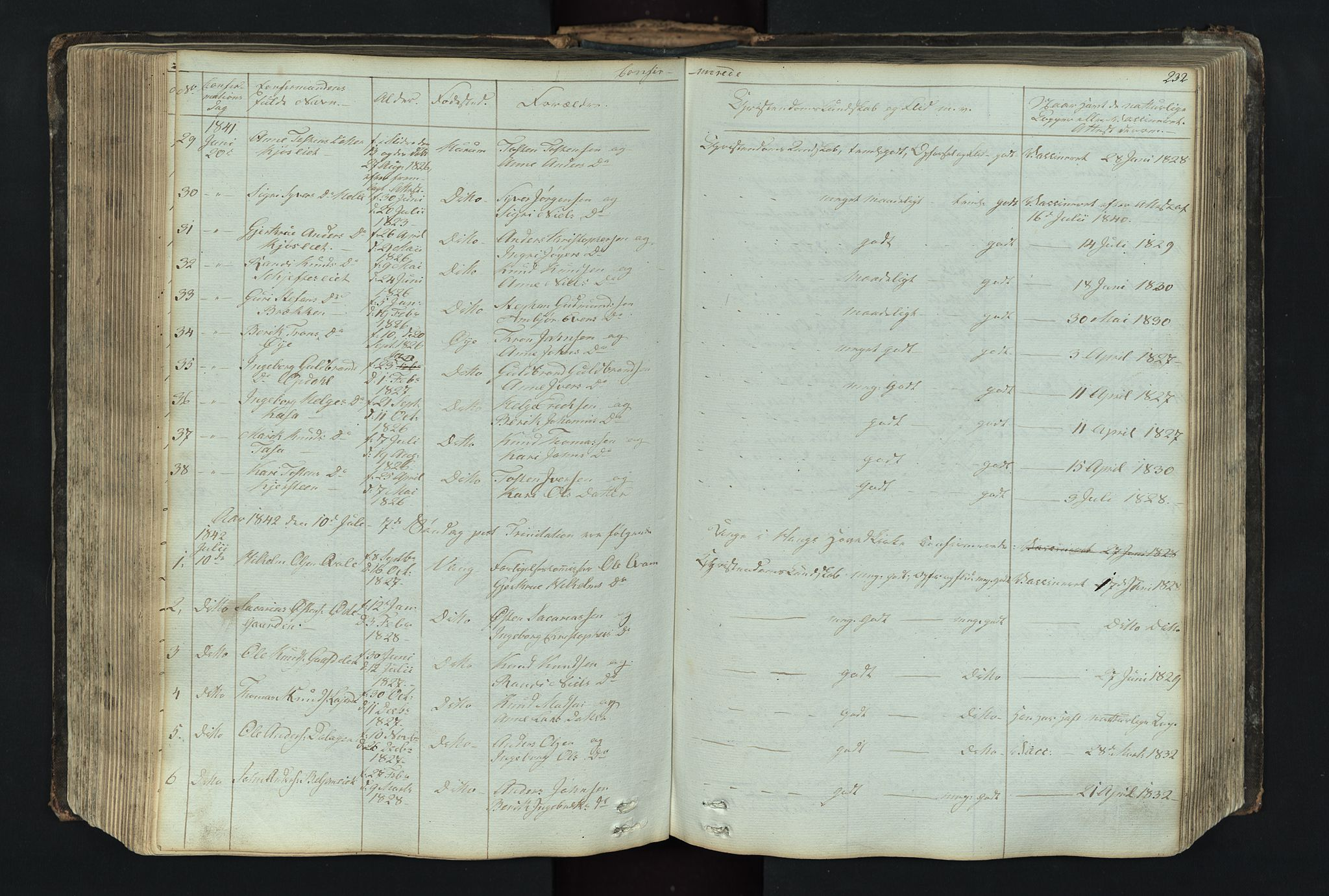 SAH, Vang prestekontor, Valdres, Klokkerbok nr. 4, 1835-1892, s. 232
