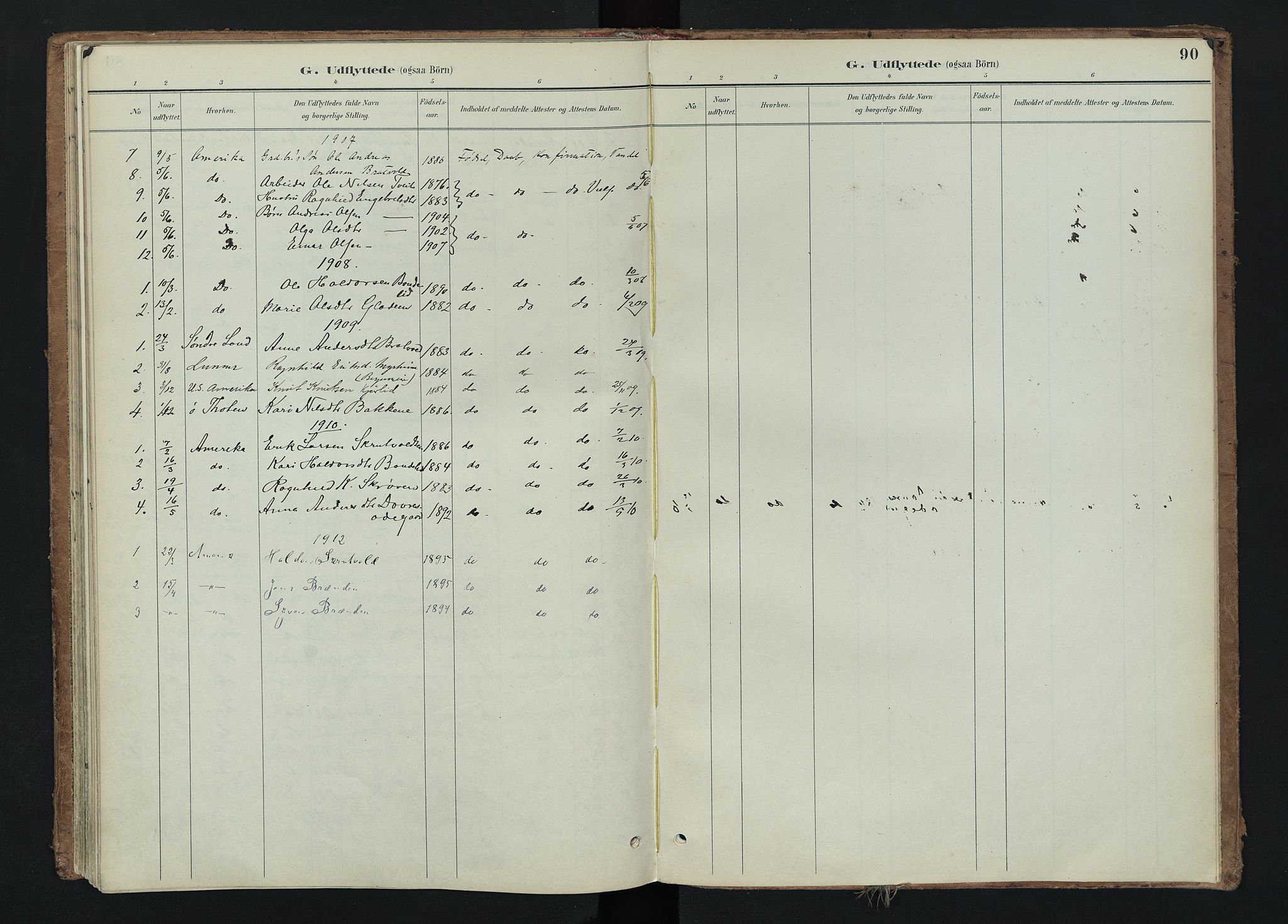 SAH, Nord-Aurdal prestekontor, Ministerialbok nr. 15, 1896-1914, s. 90