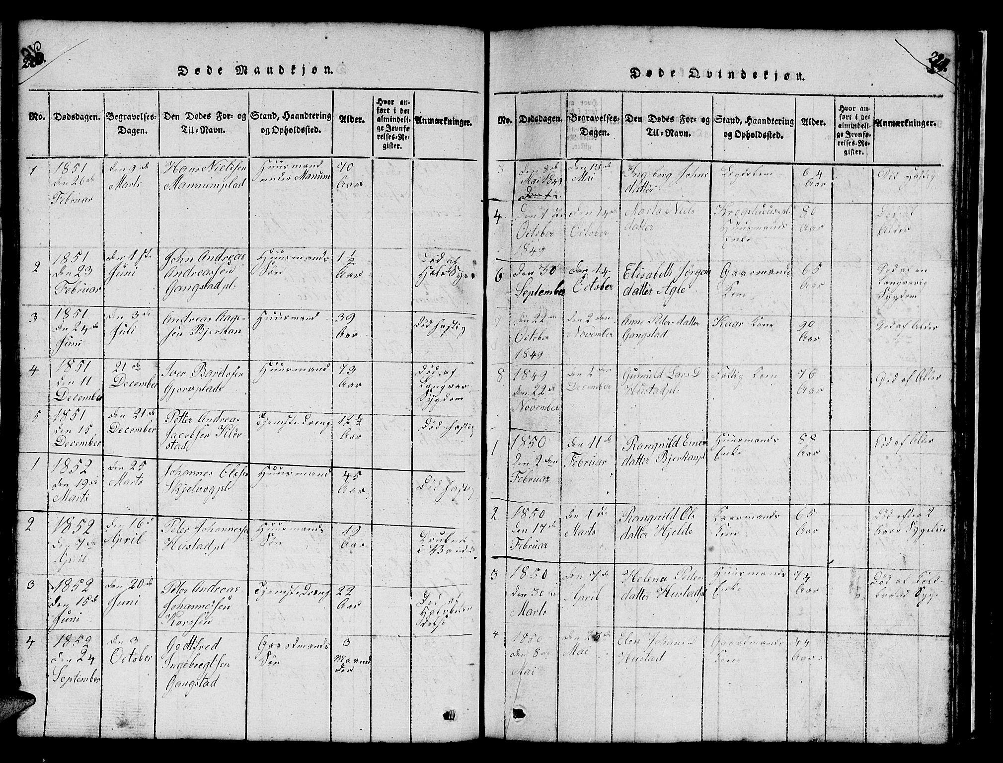SAT, Ministerialprotokoller, klokkerbøker og fødselsregistre - Nord-Trøndelag, 732/L0317: Klokkerbok nr. 732C01, 1816-1881, s. 220-221