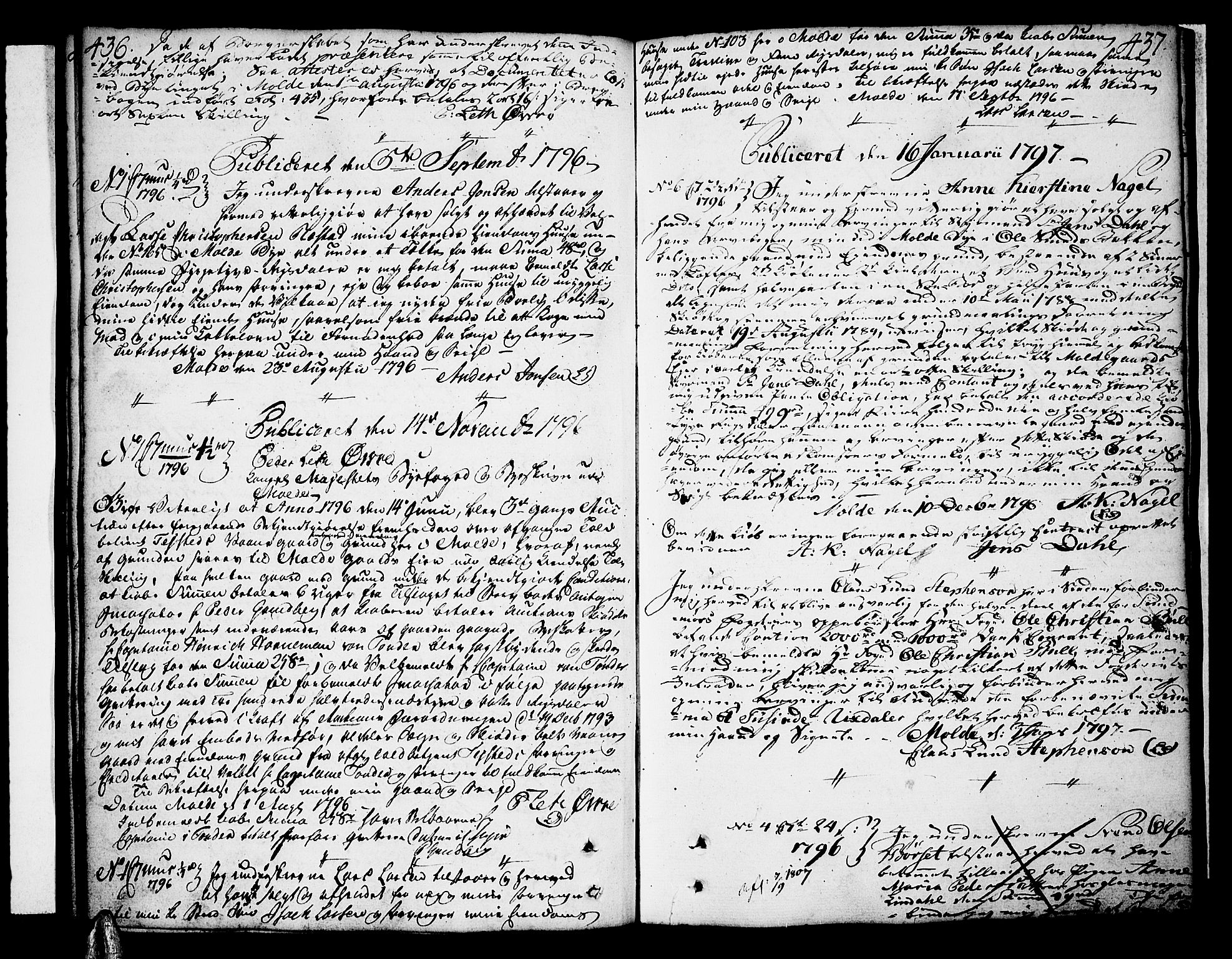 SAT, Molde byfogd, 2C/L0001: Pantebok nr. 1, 1748-1823, s. 436-437