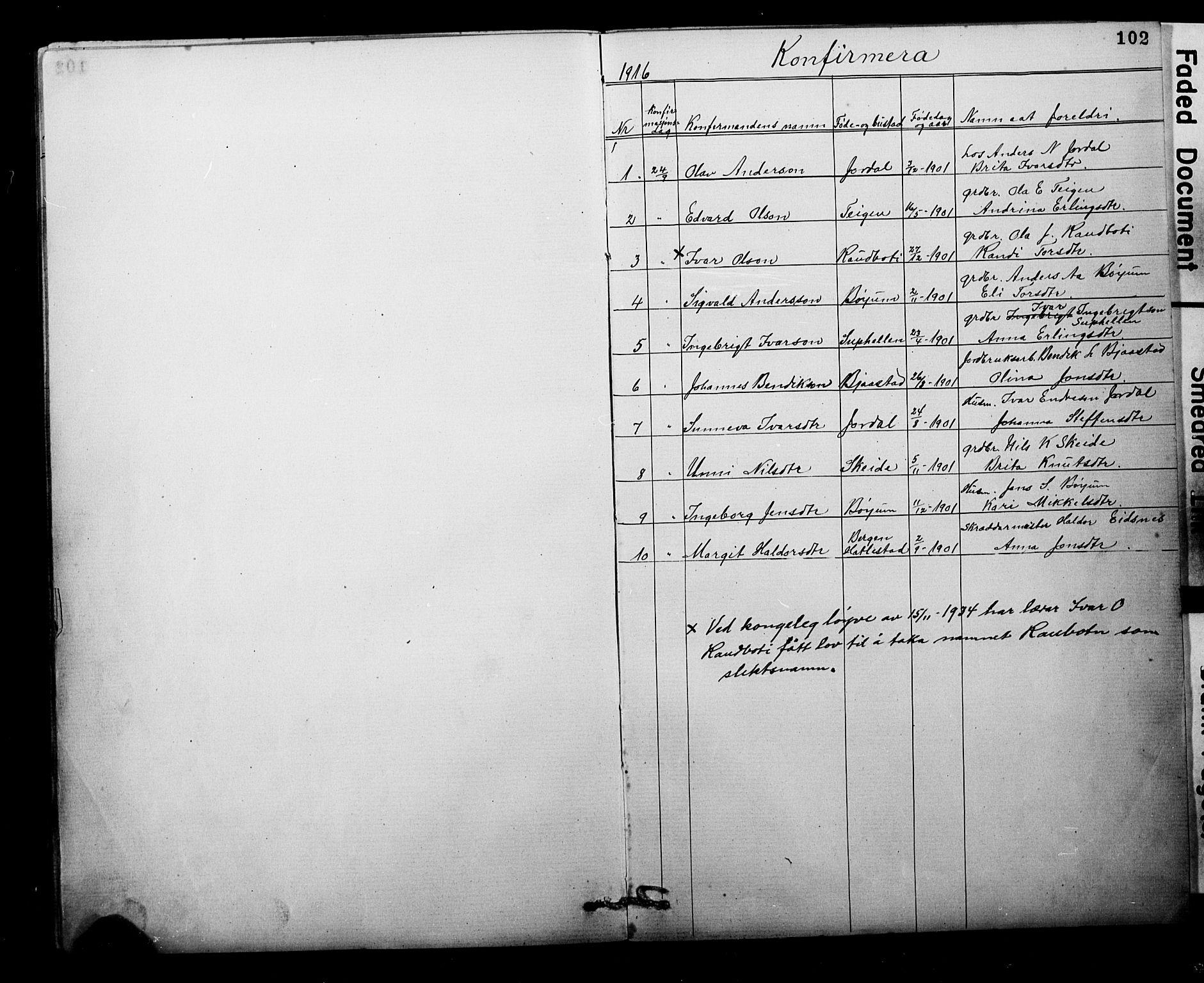 SAB, Balestrand sokneprestembete, Klokkerbok nr. B 1A, 1880-1916, s. 102