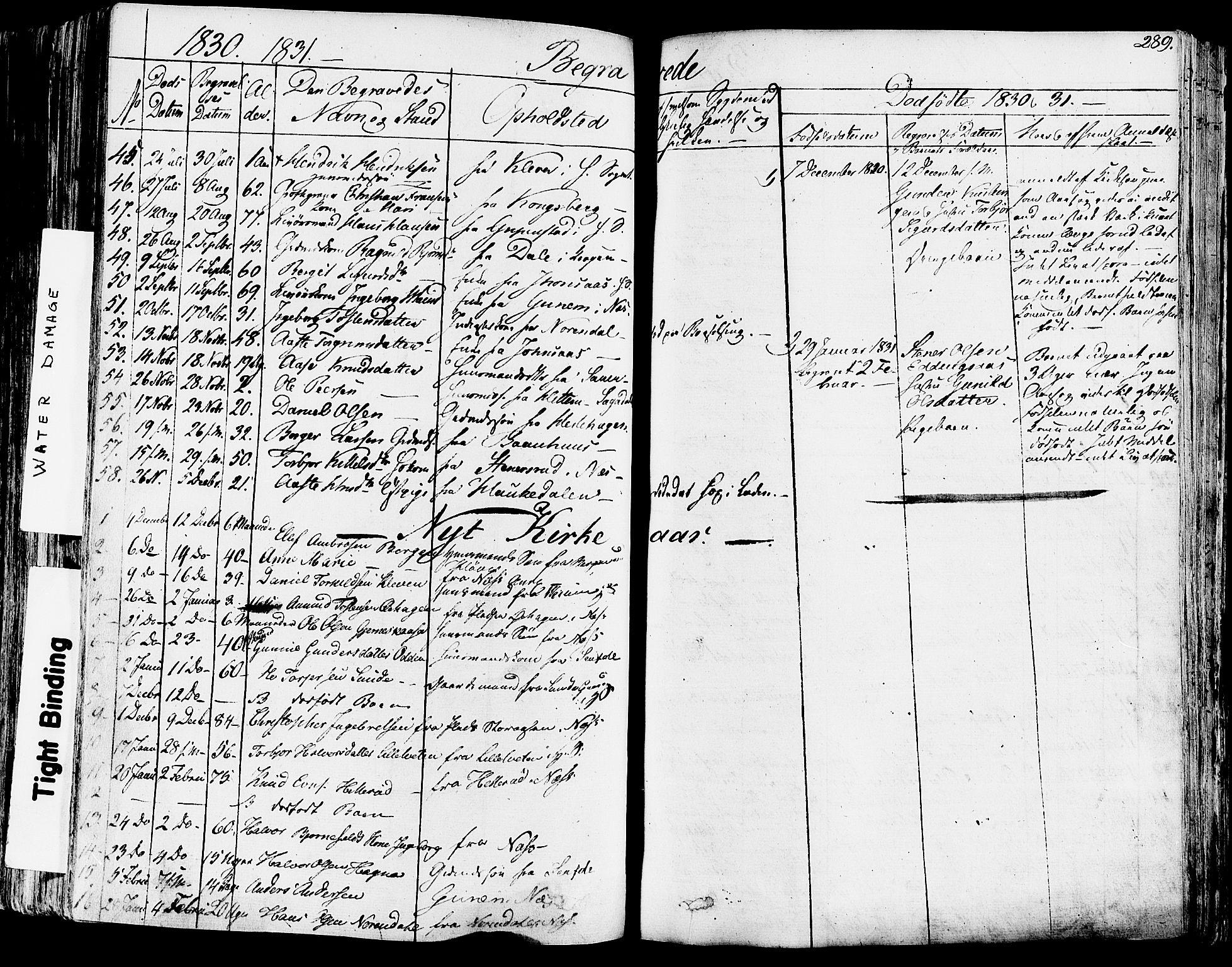 SAKO, Sauherad kirkebøker, F/Fa/L0006: Ministerialbok nr. I 6, 1827-1850, s. 289