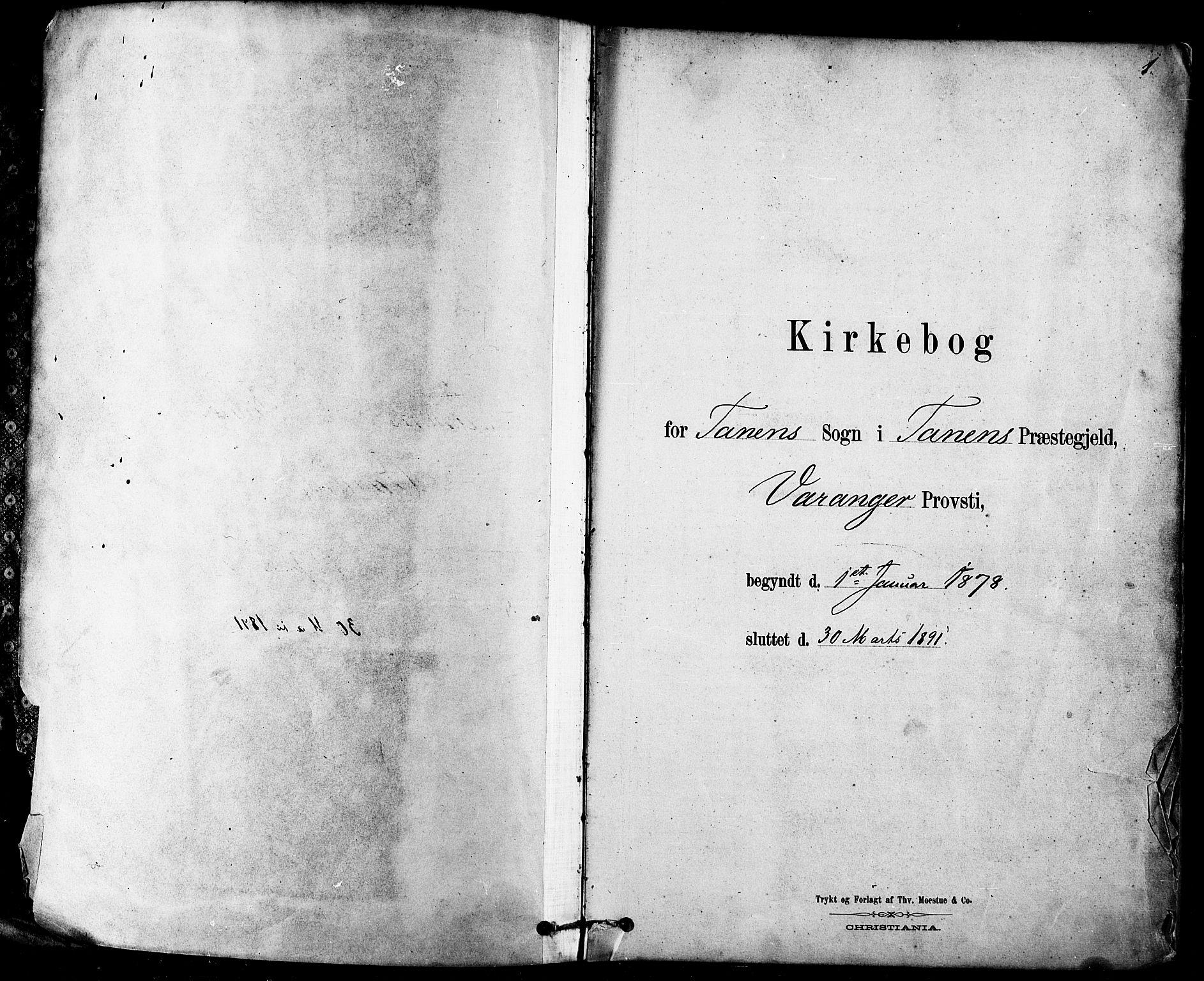 SATØ, Tana sokneprestkontor, H/Ha/L0004kirke: Ministerialbok nr. 4, 1878-1891, s. 1