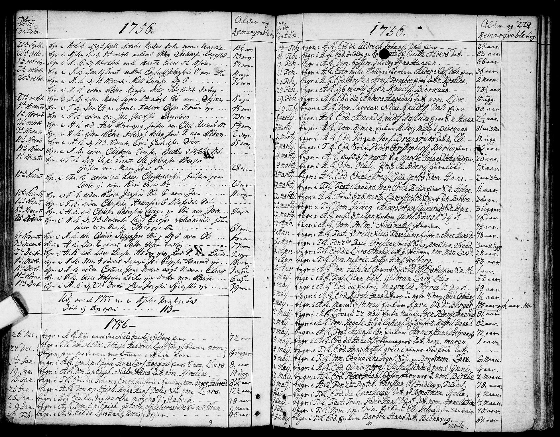 SAO, Asker prestekontor Kirkebøker, F/Fa/L0002: Ministerialbok nr. I 2, 1733-1766, s. 229