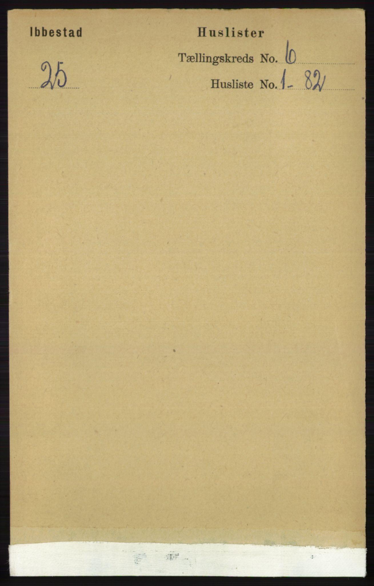 RA, Folketelling 1891 for 1917 Ibestad herred, 1891, s. 3484