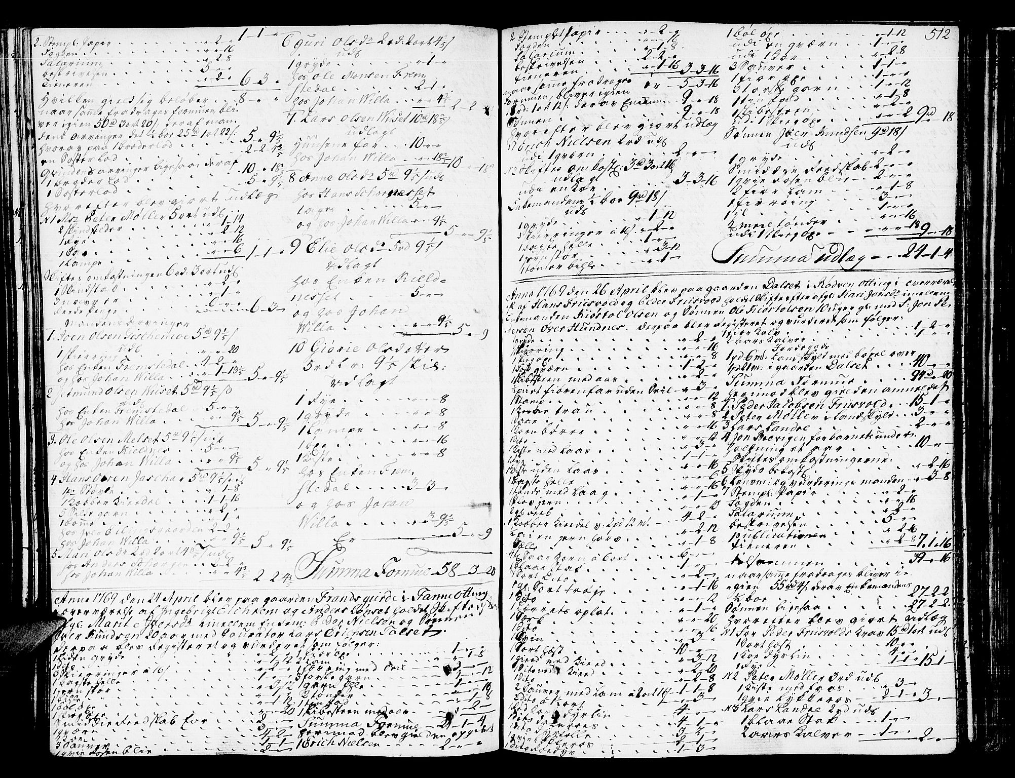 SAT, Romsdal sorenskriveri, 3/3A/L0009: Skifteprotokoll, 1761-1773, s. 511b-512a