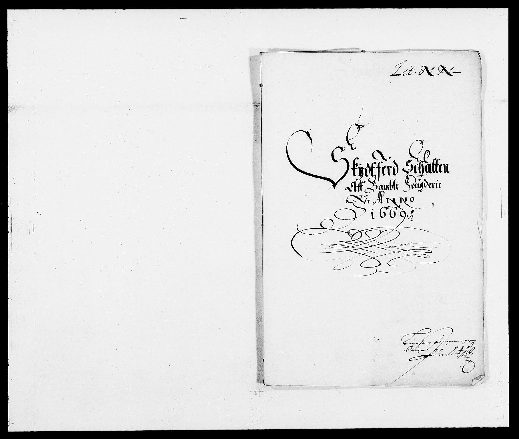 RA, Rentekammeret inntil 1814, Reviderte regnskaper, Fogderegnskap, R34/L2040: Fogderegnskap Bamble, 1662-1669, s. 173