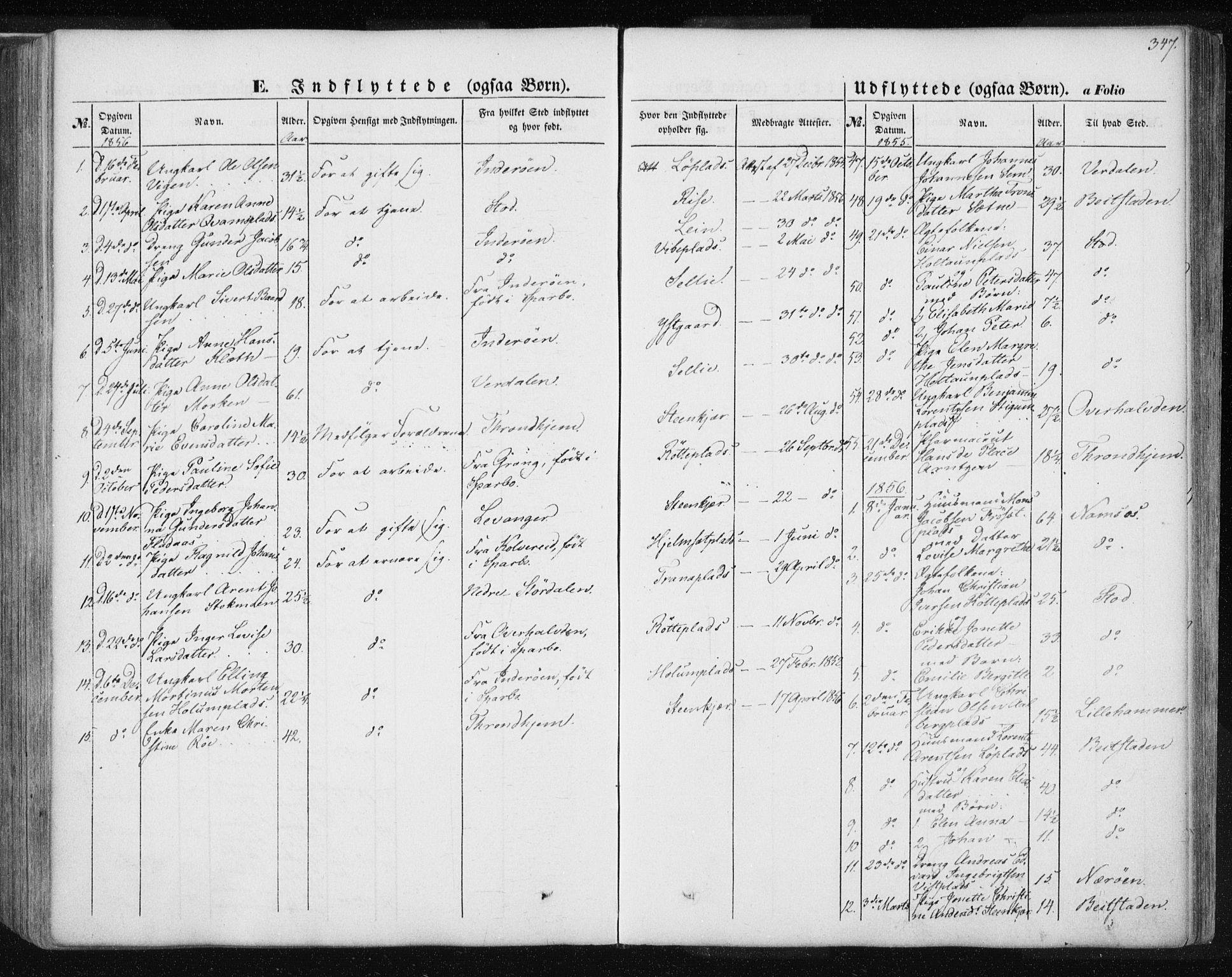 SAT, Ministerialprotokoller, klokkerbøker og fødselsregistre - Nord-Trøndelag, 735/L0342: Ministerialbok nr. 735A07 /1, 1849-1862, s. 347