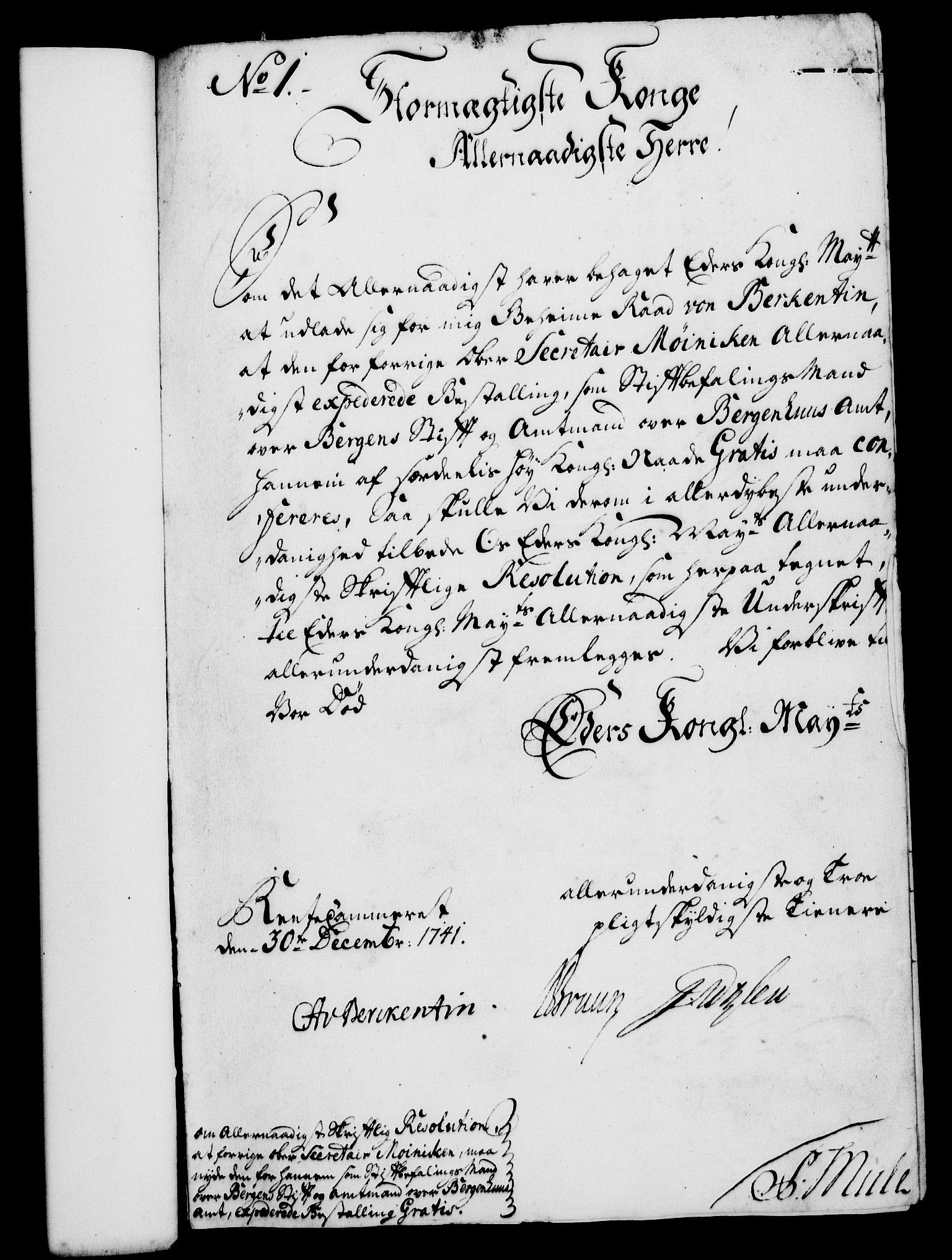 RA, Rentekammeret, Kammerkanselliet, G/Gf/Gfa/L0025: Norsk relasjons- og resolusjonsprotokoll (merket RK 52.25), 1742, s. 29