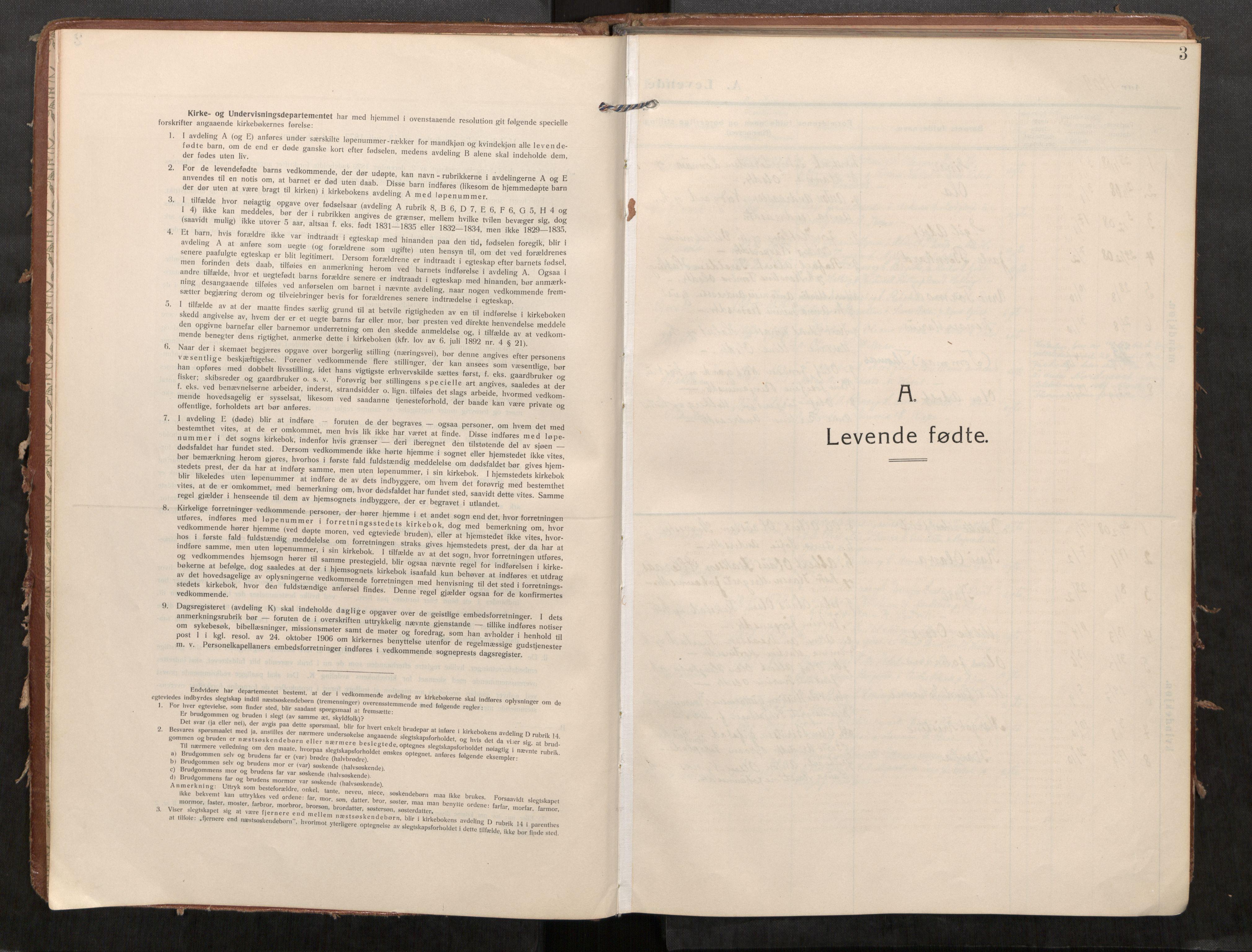 SAT, Stod sokneprestkontor, I/I1/I1a/L0002: Ministerialbok nr. 2, 1909-1922, s. 3