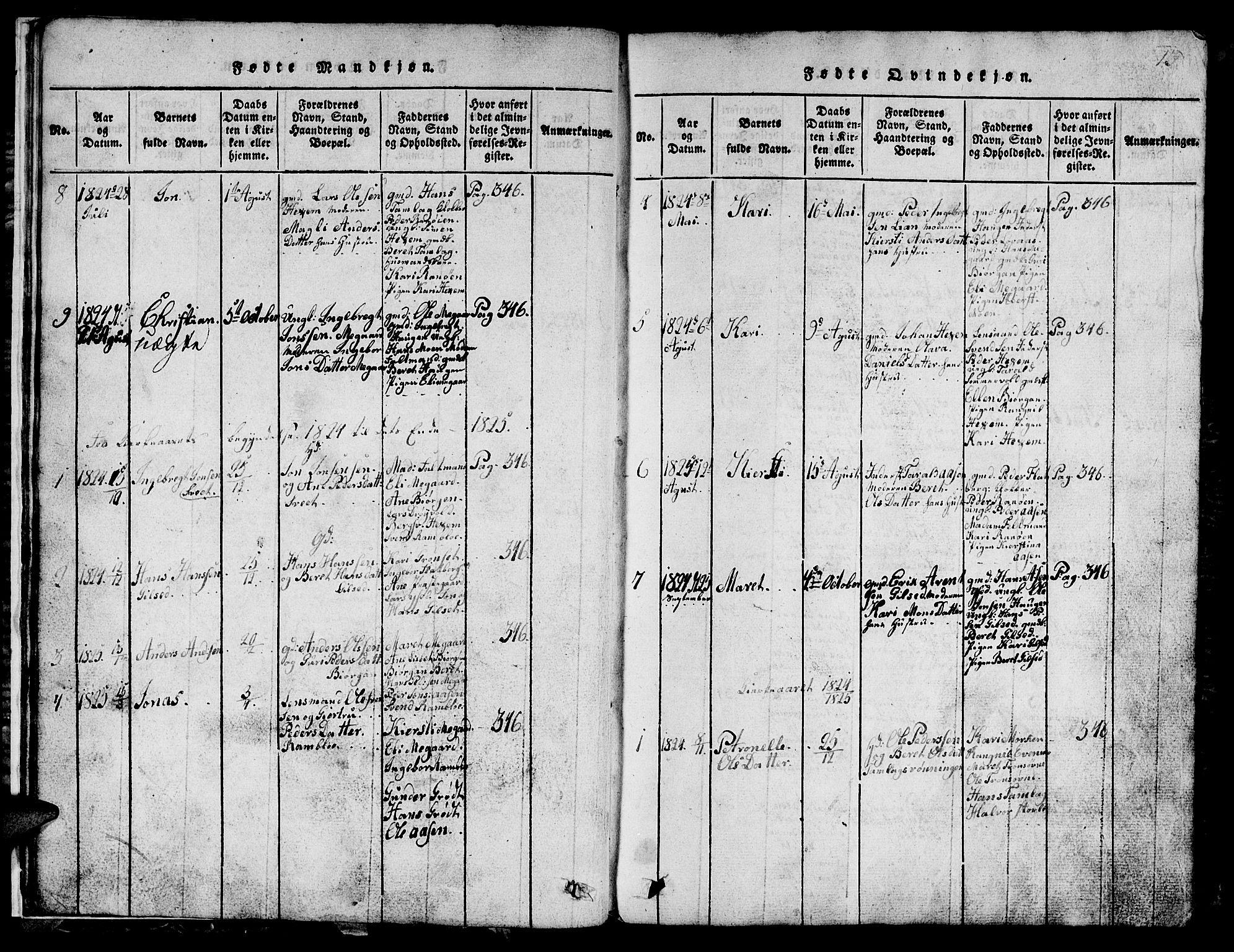 SAT, Ministerialprotokoller, klokkerbøker og fødselsregistre - Sør-Trøndelag, 685/L0976: Klokkerbok nr. 685C01, 1817-1878, s. 13