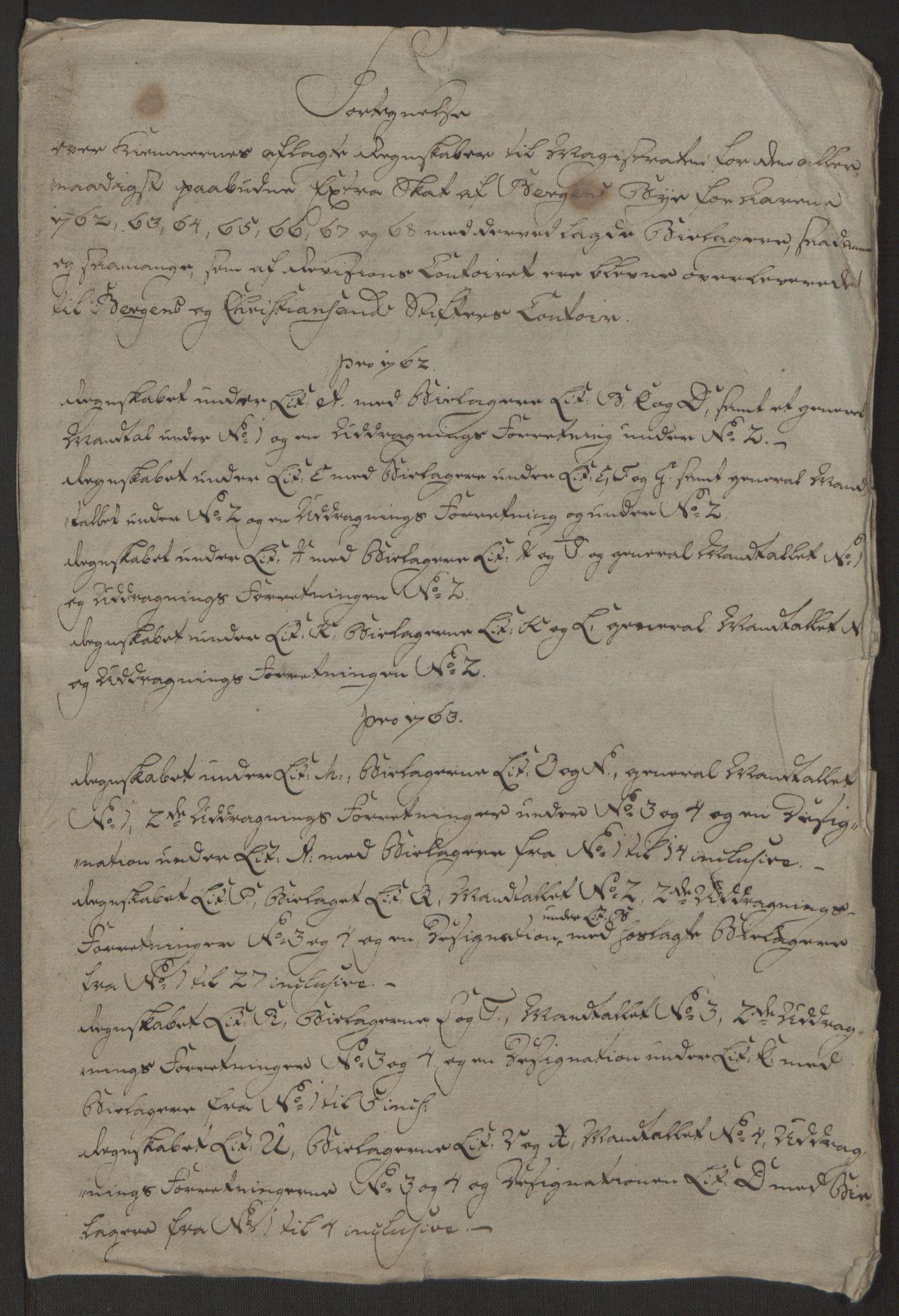 RA, Rentekammeret inntil 1814, Reviderte regnskaper, Byregnskaper, R/Rp/L0366: [P20] Kontribusjonsregnskap, 1763, s. 236