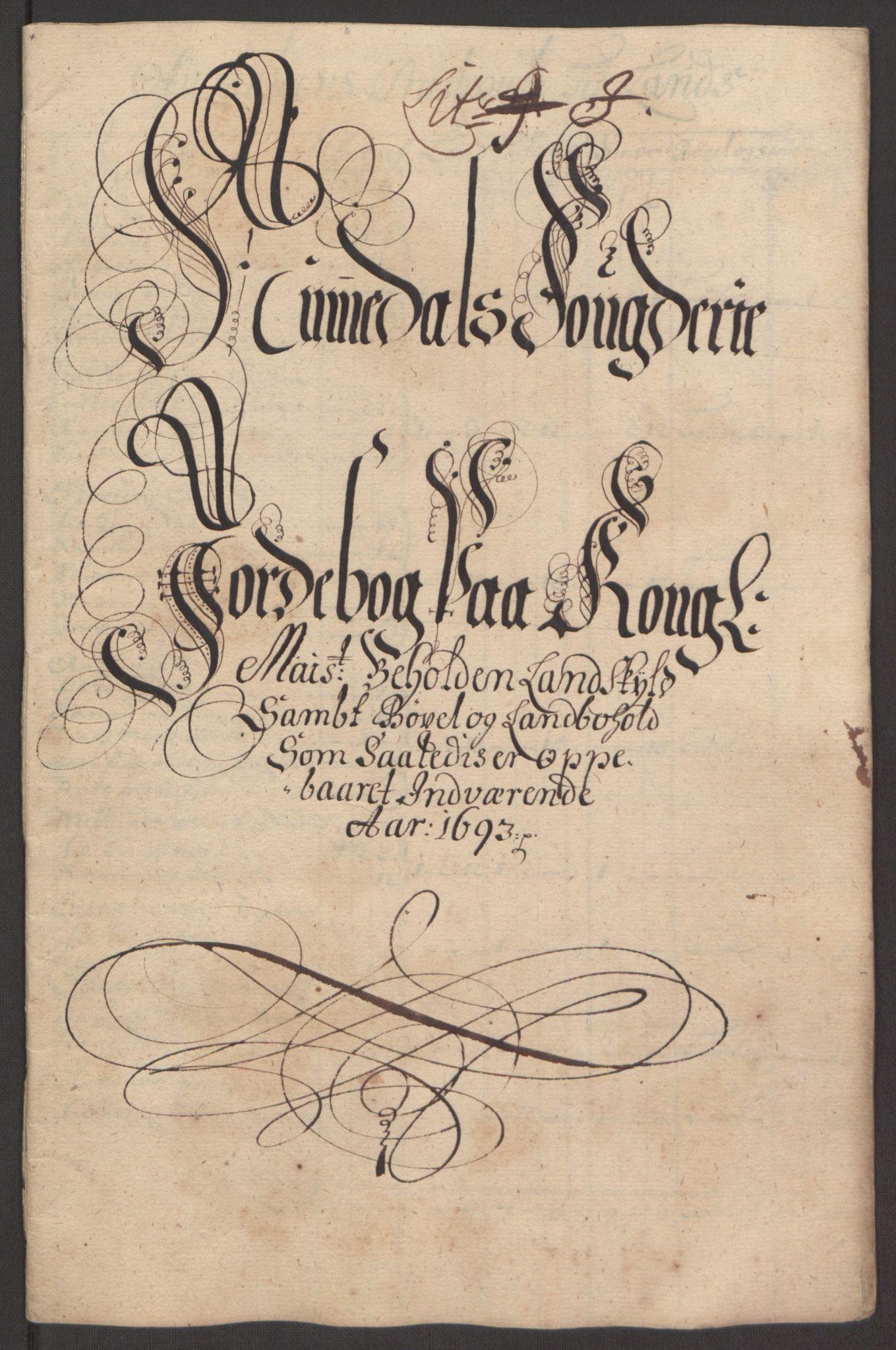 RA, Rentekammeret inntil 1814, Reviderte regnskaper, Fogderegnskap, R64/L4424: Fogderegnskap Namdal, 1692-1695, s. 286