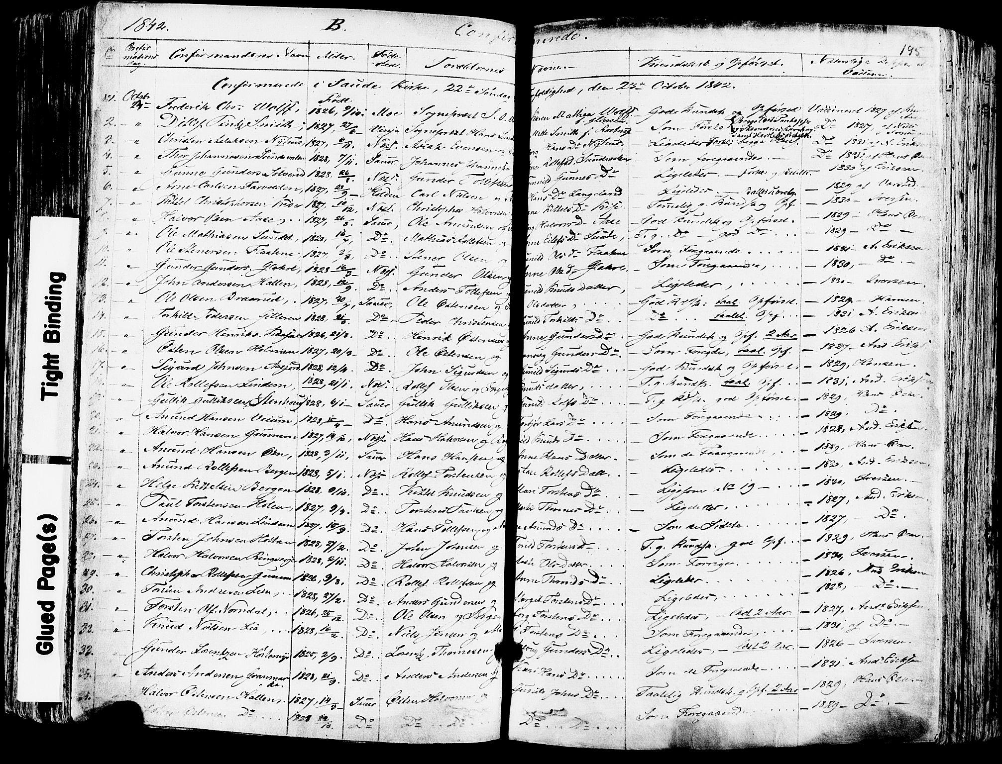 SAKO, Sauherad kirkebøker, F/Fa/L0006: Ministerialbok nr. I 6, 1827-1850, s. 195