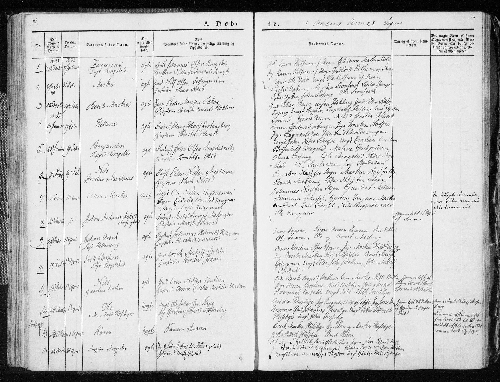 SAT, Ministerialprotokoller, klokkerbøker og fødselsregistre - Nord-Trøndelag, 713/L0114: Ministerialbok nr. 713A05, 1827-1839, s. 93