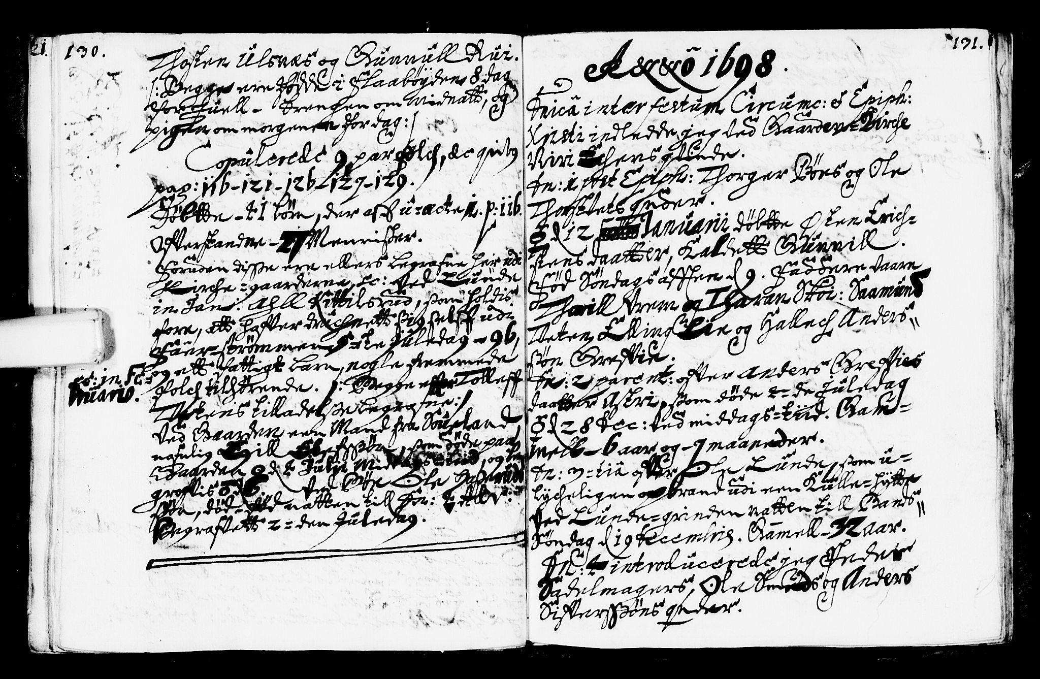 SAKO, Bø kirkebøker, F/Fa/L0001: Ministerialbok nr. 1, 1689-1699, s. 130-131