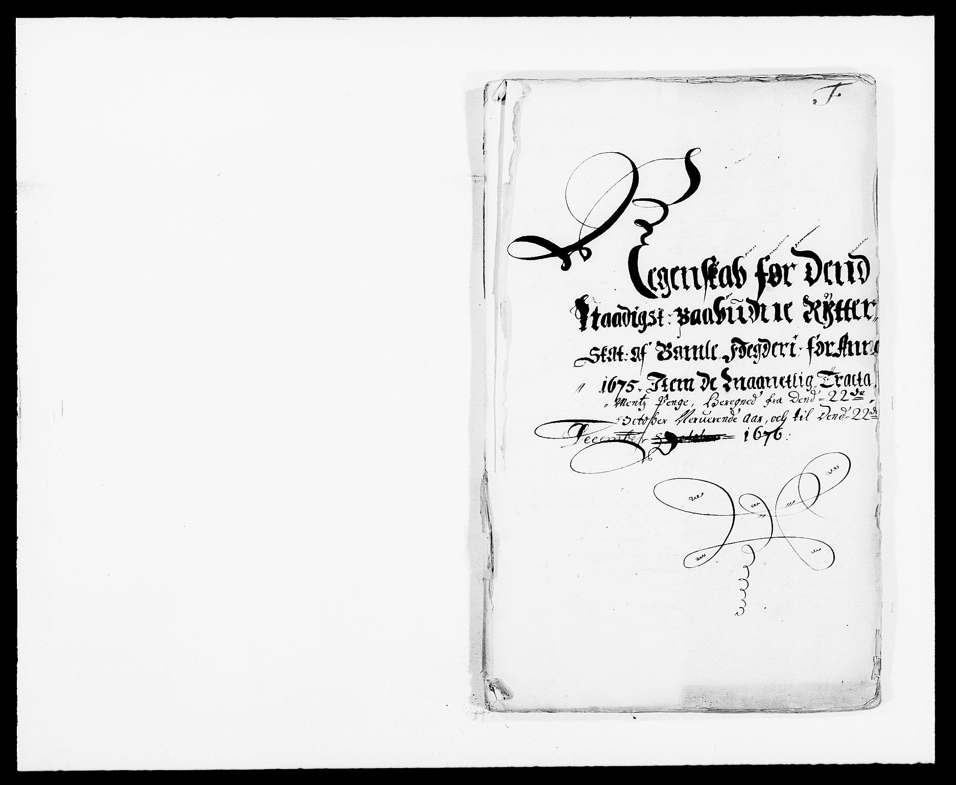 RA, Rentekammeret inntil 1814, Reviderte regnskaper, Fogderegnskap, R34/L2042: Fogderegnskap Bamble, 1673-1675, s. 392