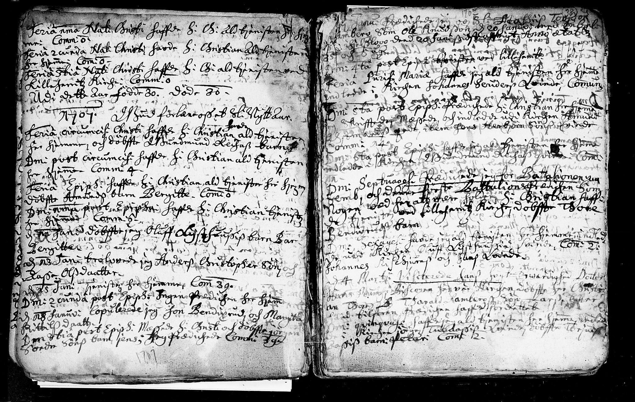 SAKO, Heddal kirkebøker, F/Fa/L0002: Ministerialbok nr. I 2, 1699-1722, s. 38