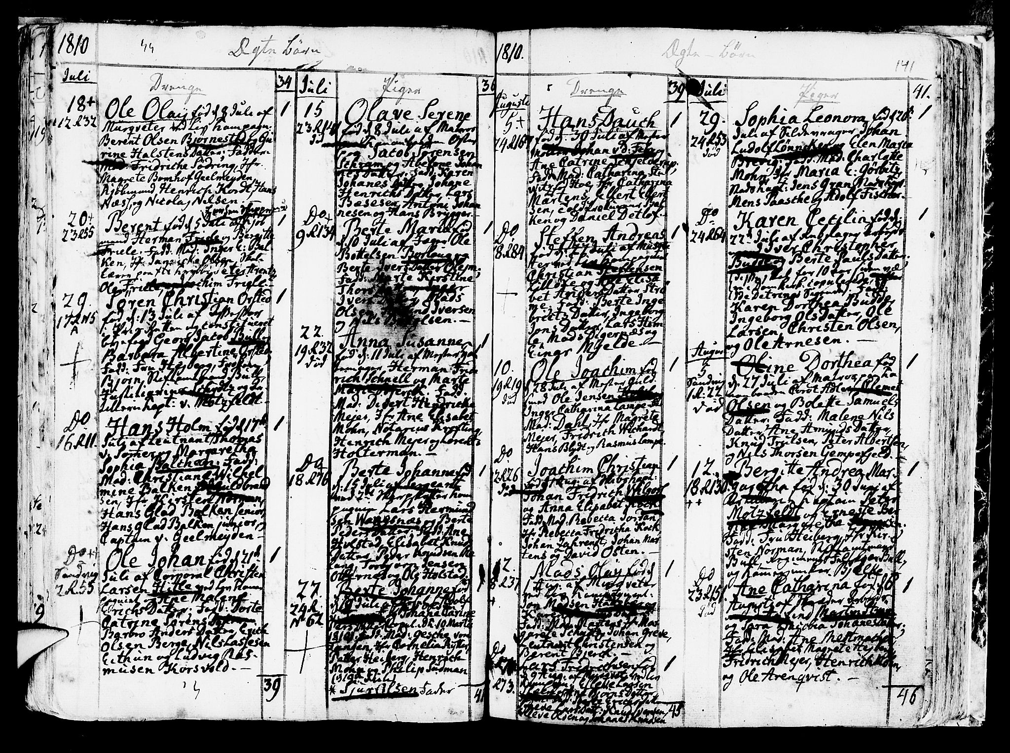 SAB, Korskirken Sokneprestembete, H/Haa/L0006: Ministerialbok nr. A 6, 1790-1820, s. 141