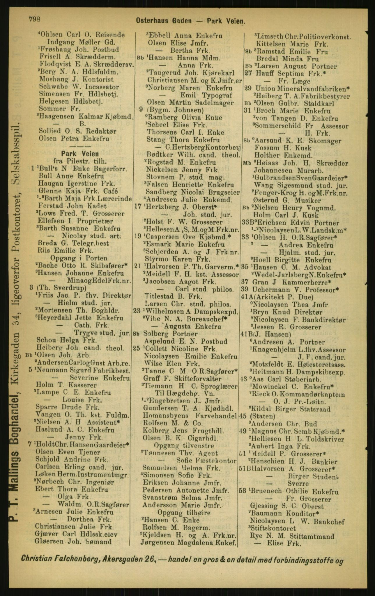PUBL, Kristiania/Oslo adressebok, 1897, s. 798