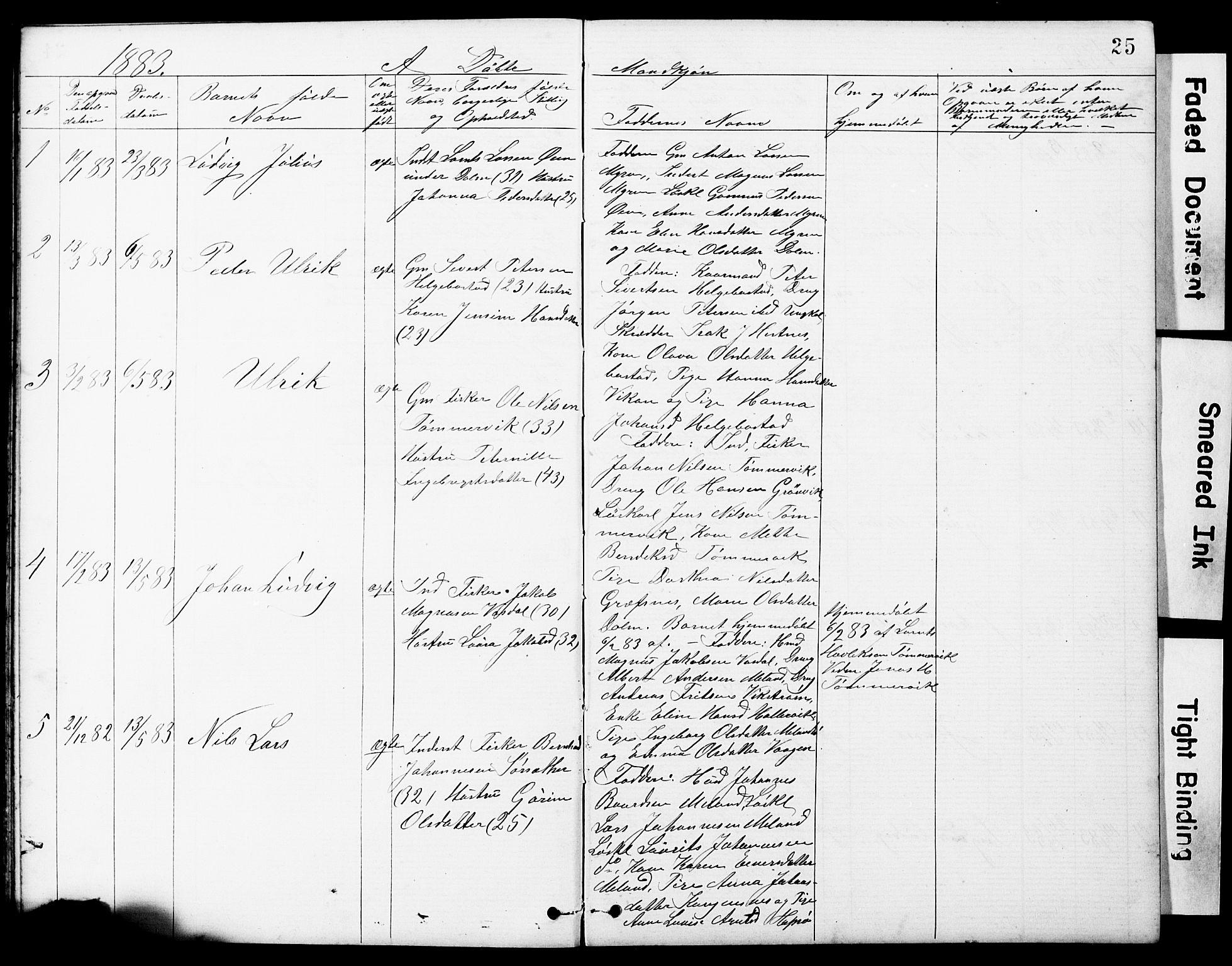 SAT, Ministerialprotokoller, klokkerbøker og fødselsregistre - Sør-Trøndelag, 634/L0541: Klokkerbok nr. 634C03, 1874-1891, s. 25