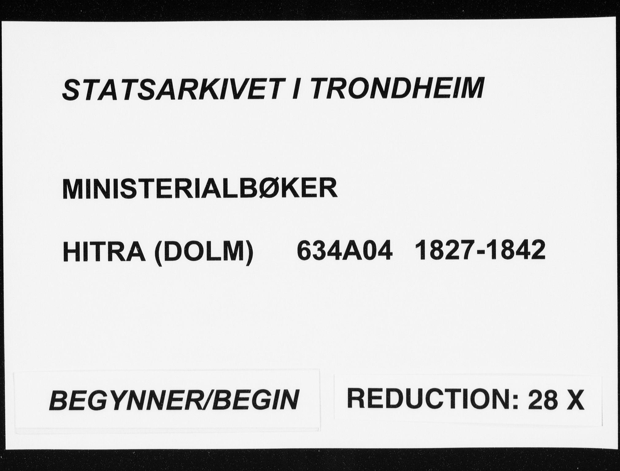 SAT, Ministerialprotokoller, klokkerbøker og fødselsregistre - Sør-Trøndelag, 634/L0528: Ministerialbok nr. 634A04, 1827-1842