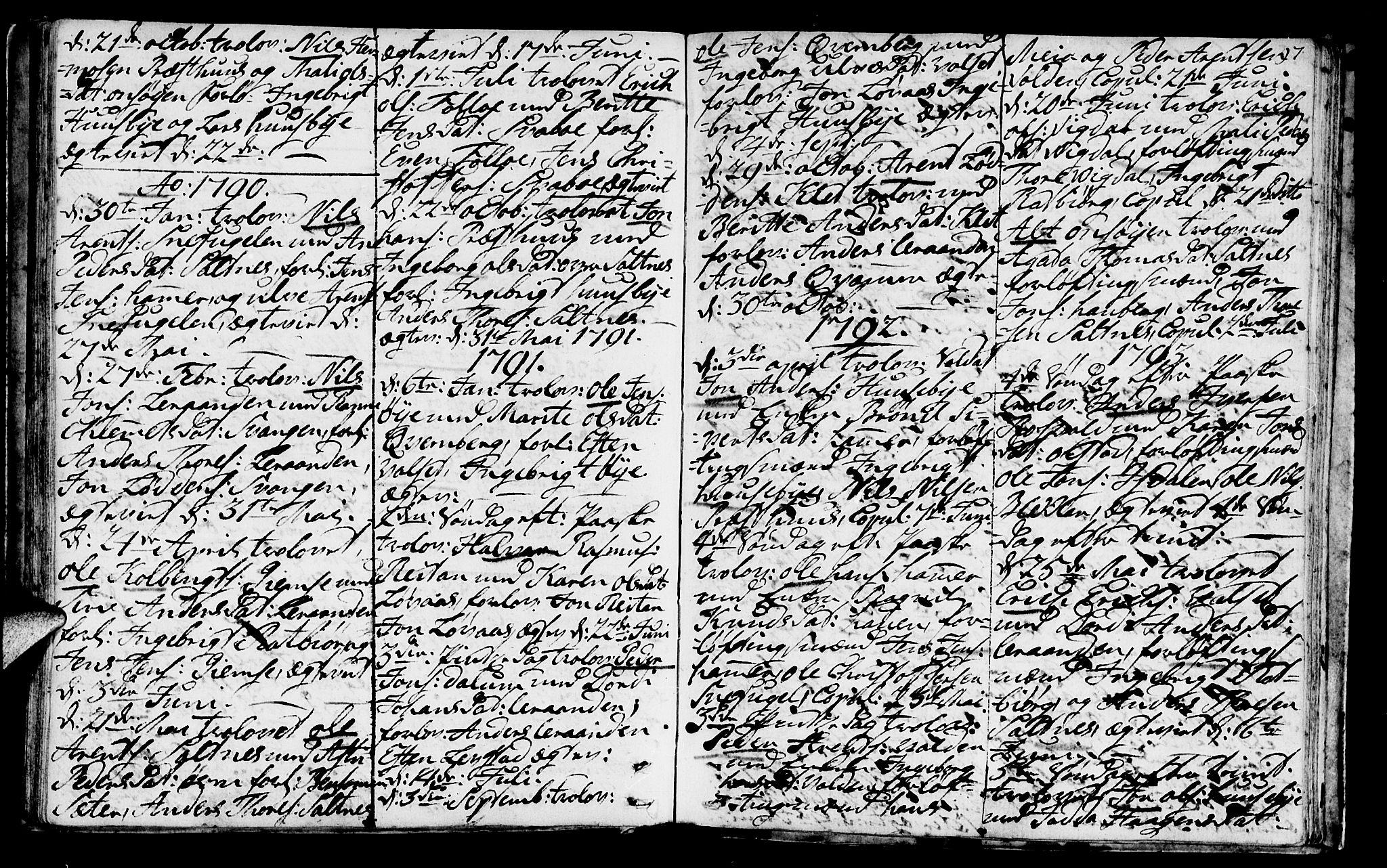SAT, Ministerialprotokoller, klokkerbøker og fødselsregistre - Sør-Trøndelag, 666/L0784: Ministerialbok nr. 666A02, 1754-1802, s. 97