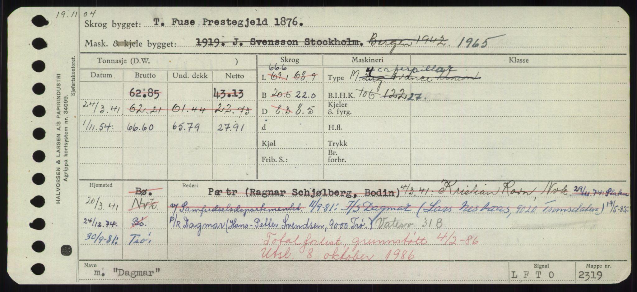 RA, Sjøfartsdirektoratet med forløpere, Skipsmålingen, H/Hd/L0008: Fartøy, C-D, s. 339