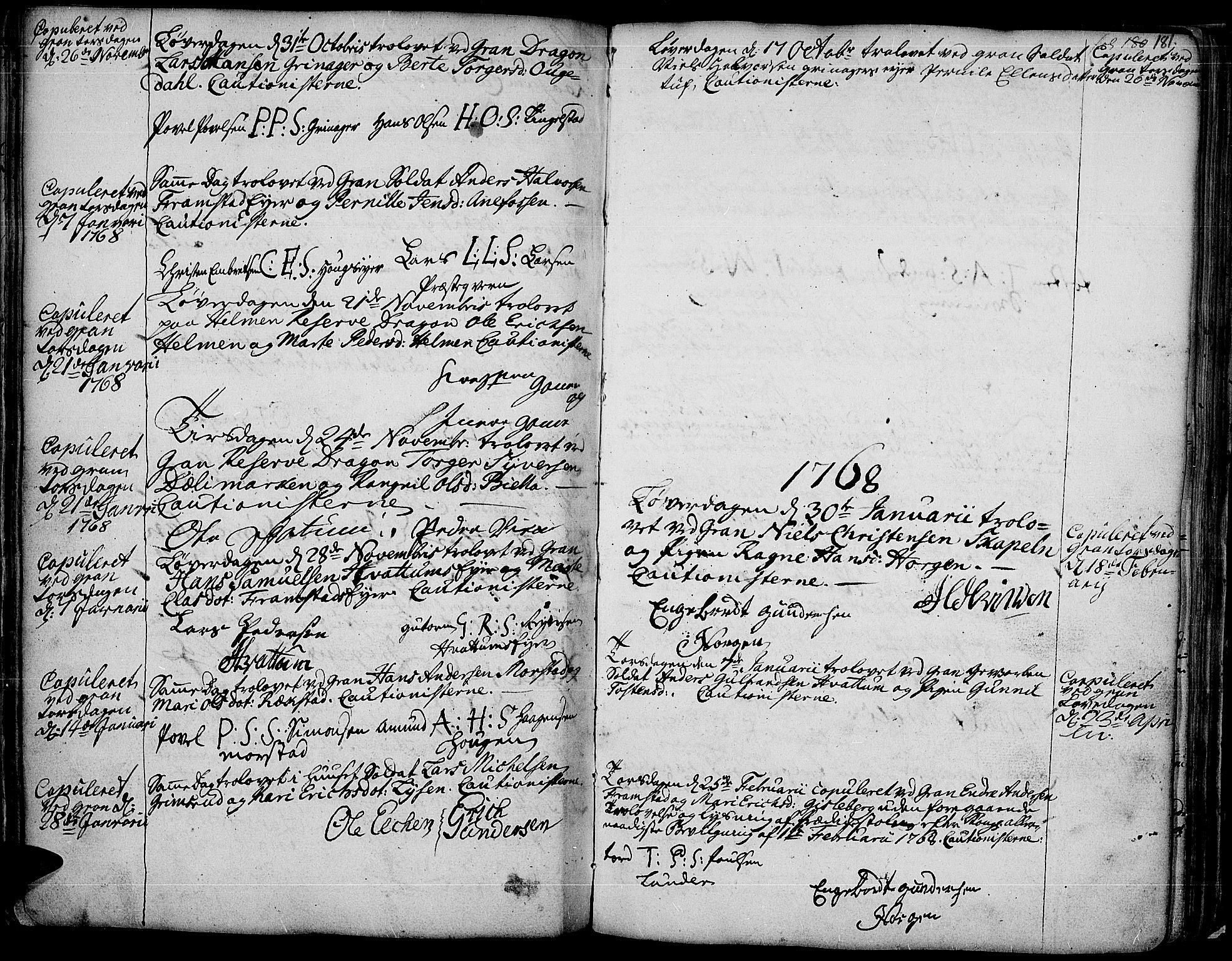 SAH, Gran prestekontor, Ministerialbok nr. 4, 1759-1775, s. 181