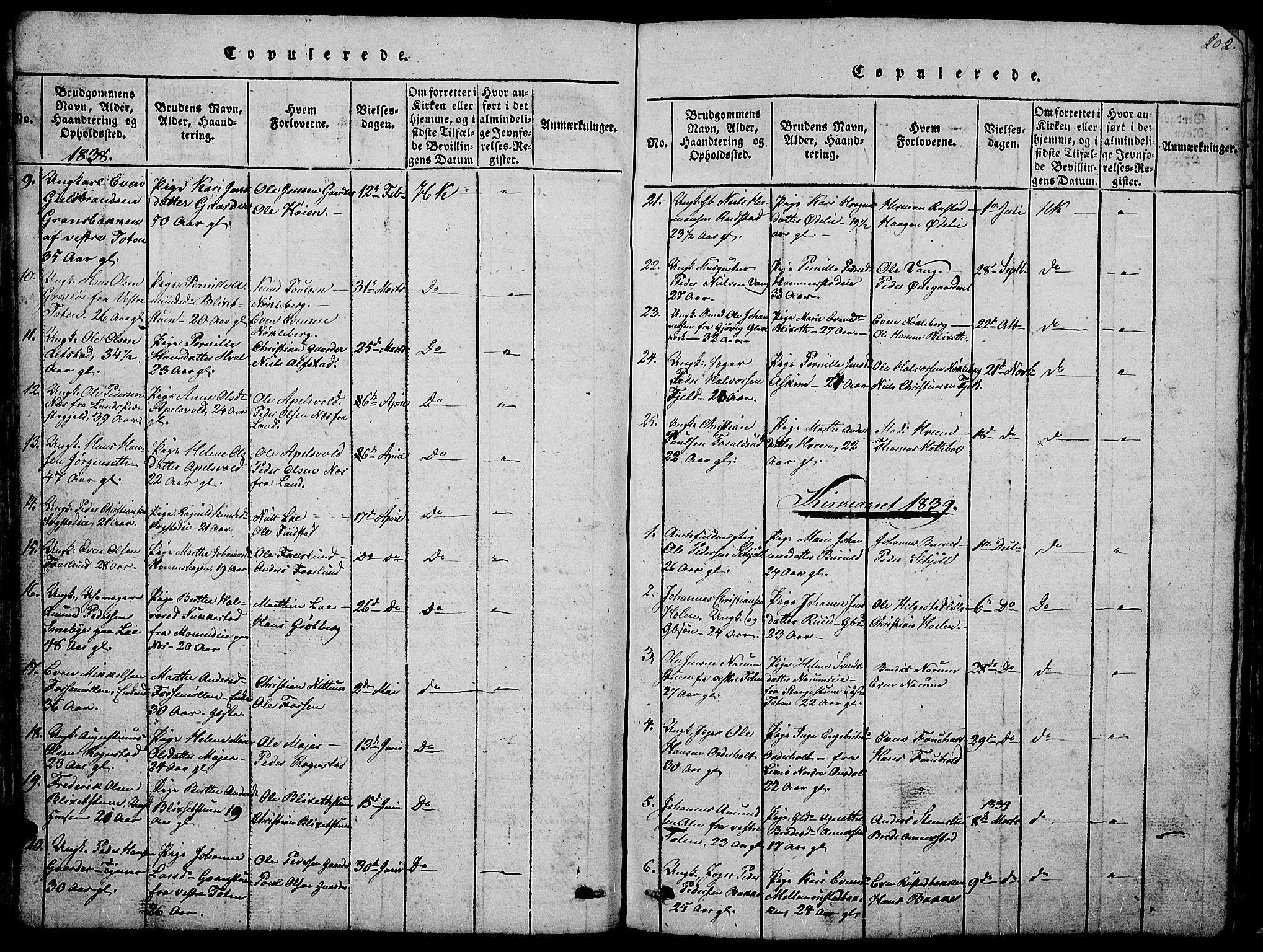 SAH, Østre Toten prestekontor, Klokkerbok nr. 1, 1827-1839, s. 202