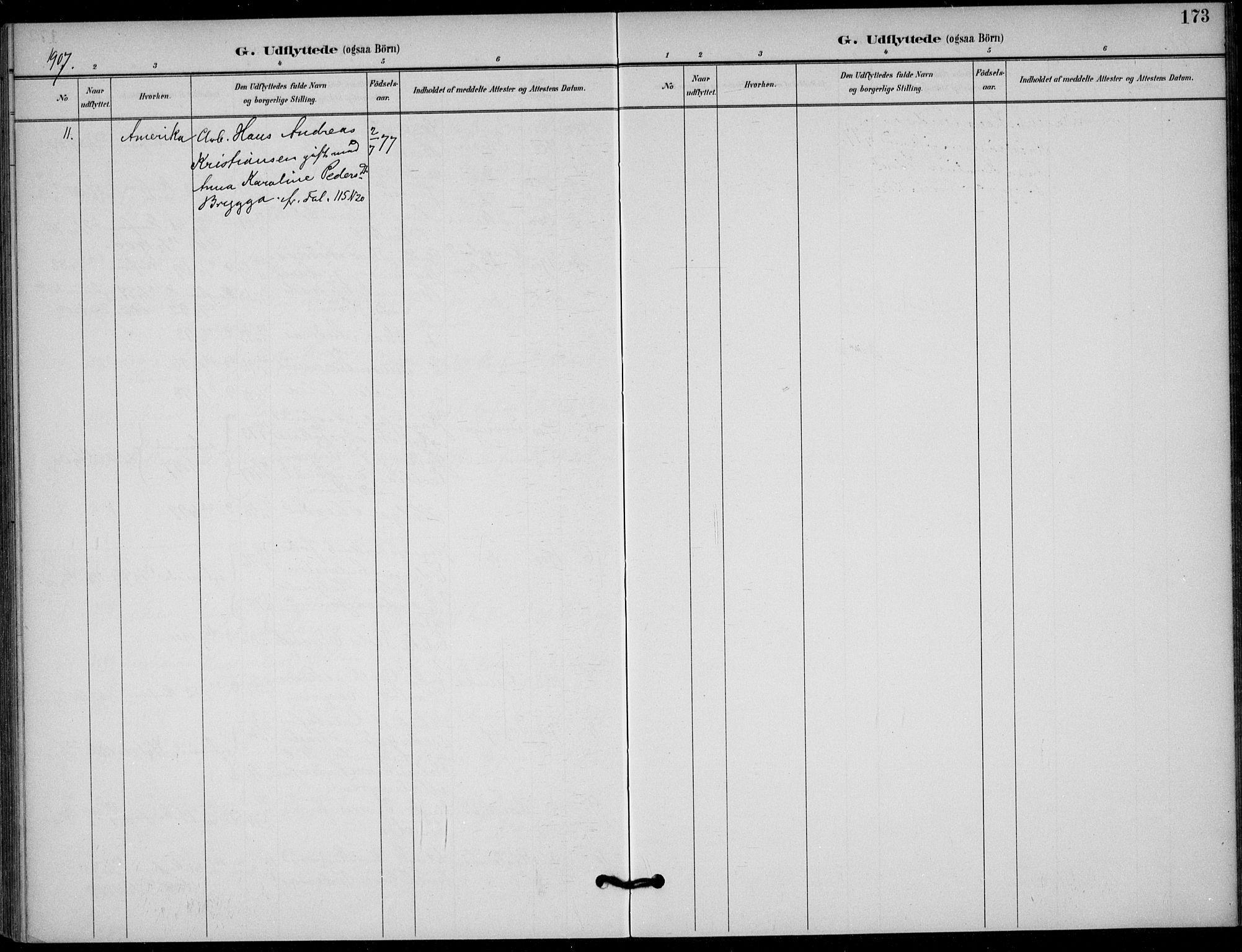 SAKO, Solum kirkebøker, F/Fb/L0002: Ministerialbok nr. II 2, 1893-1901, s. 173