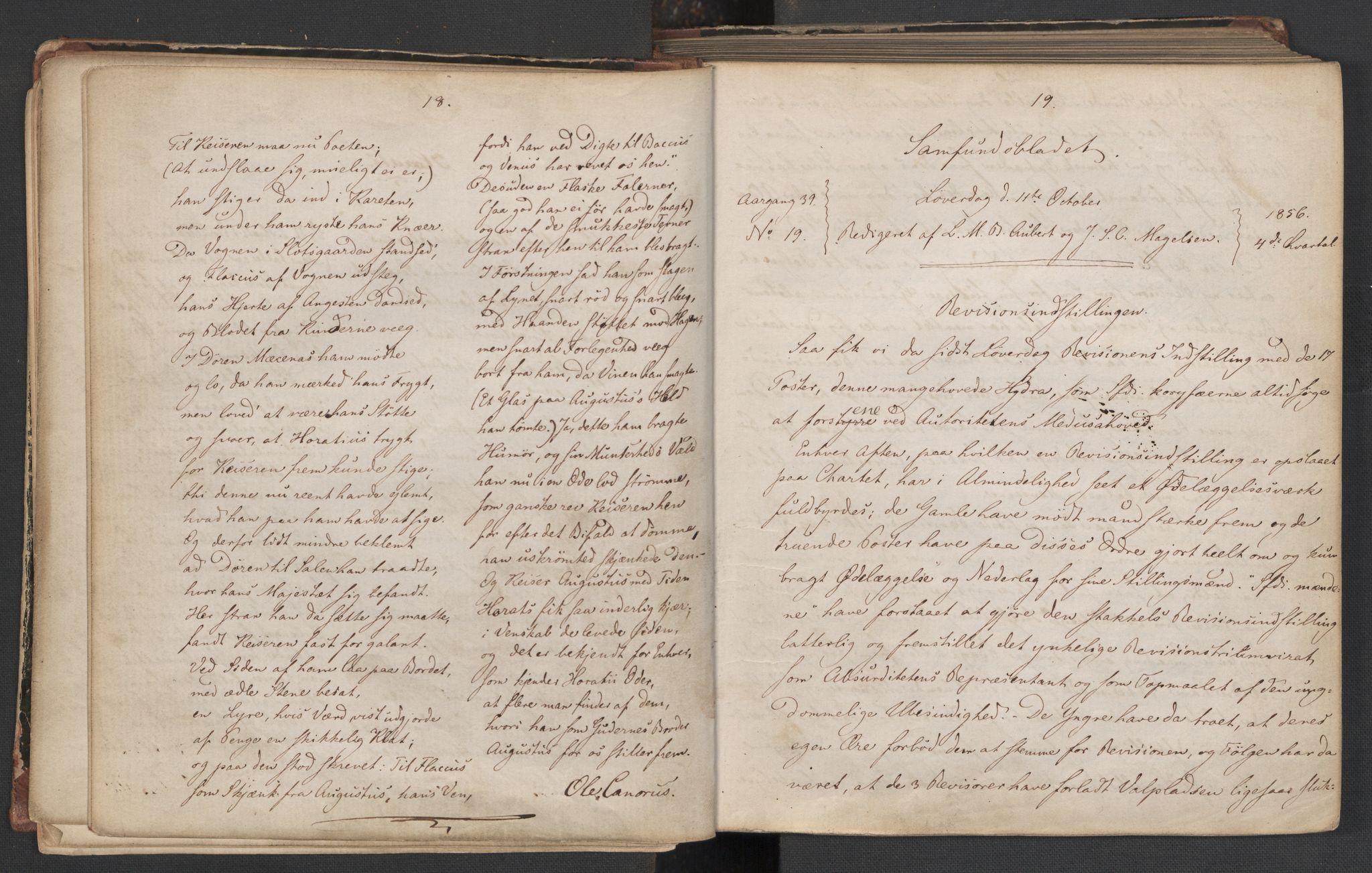 RA, Det Norske Studentersamfund, X/Xa/L0006, 1856-1857, s. 13